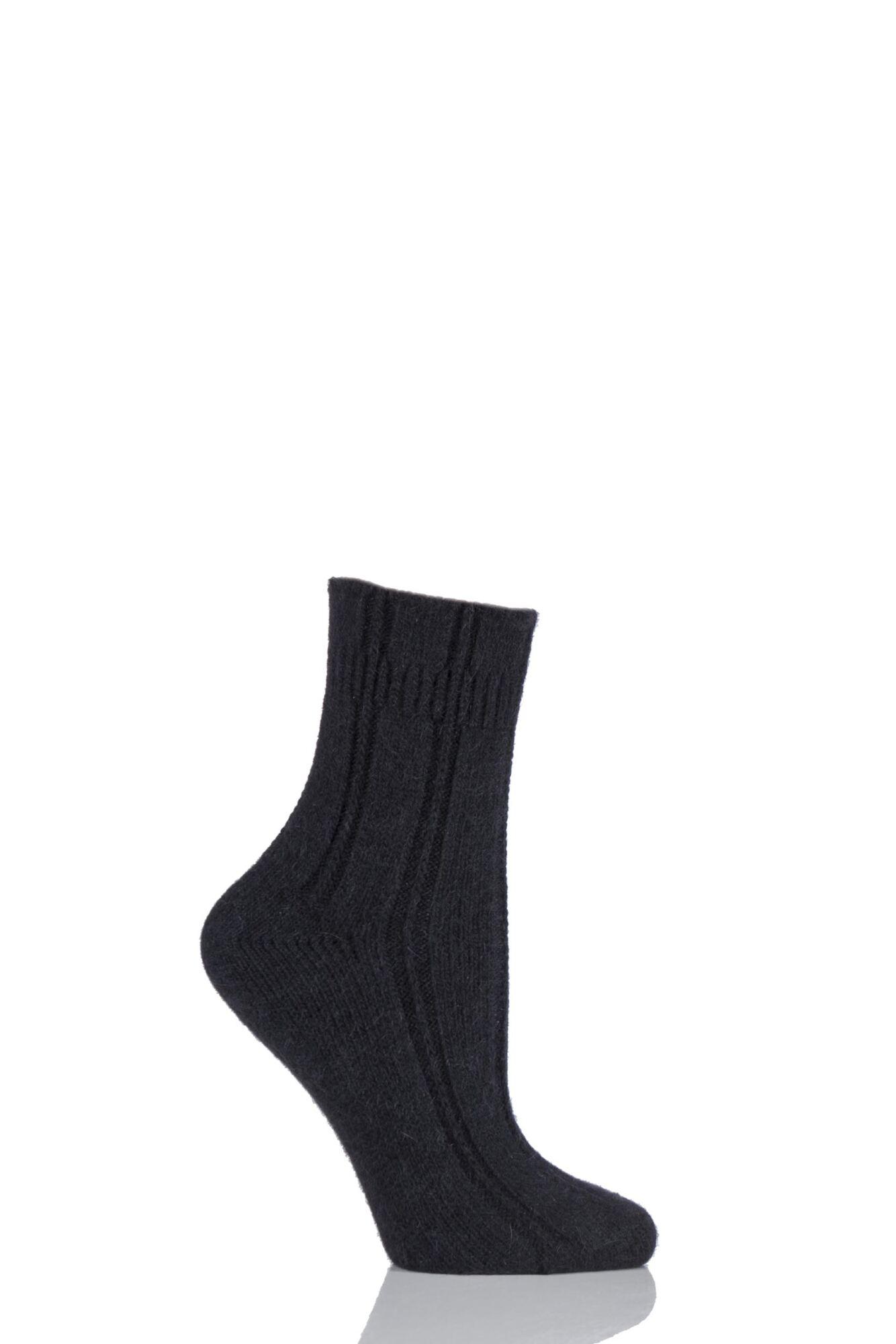 1 Pair Angora Bed Socks Ladies - Falke