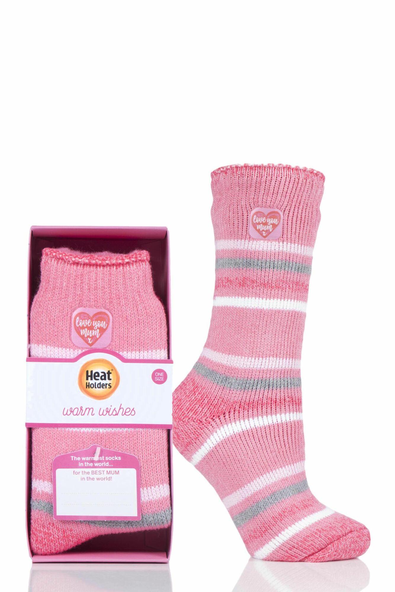 1 Pair Gift Boxed Socks Ladies - Heat Holders