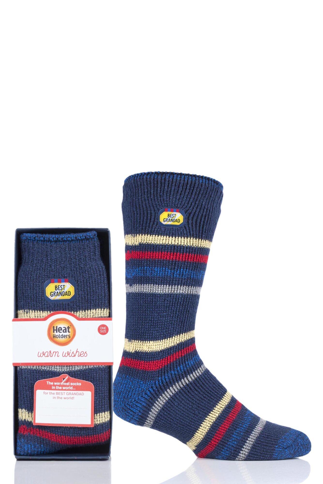 1 Pair Gift Boxed Socks Men's - Heat Holders