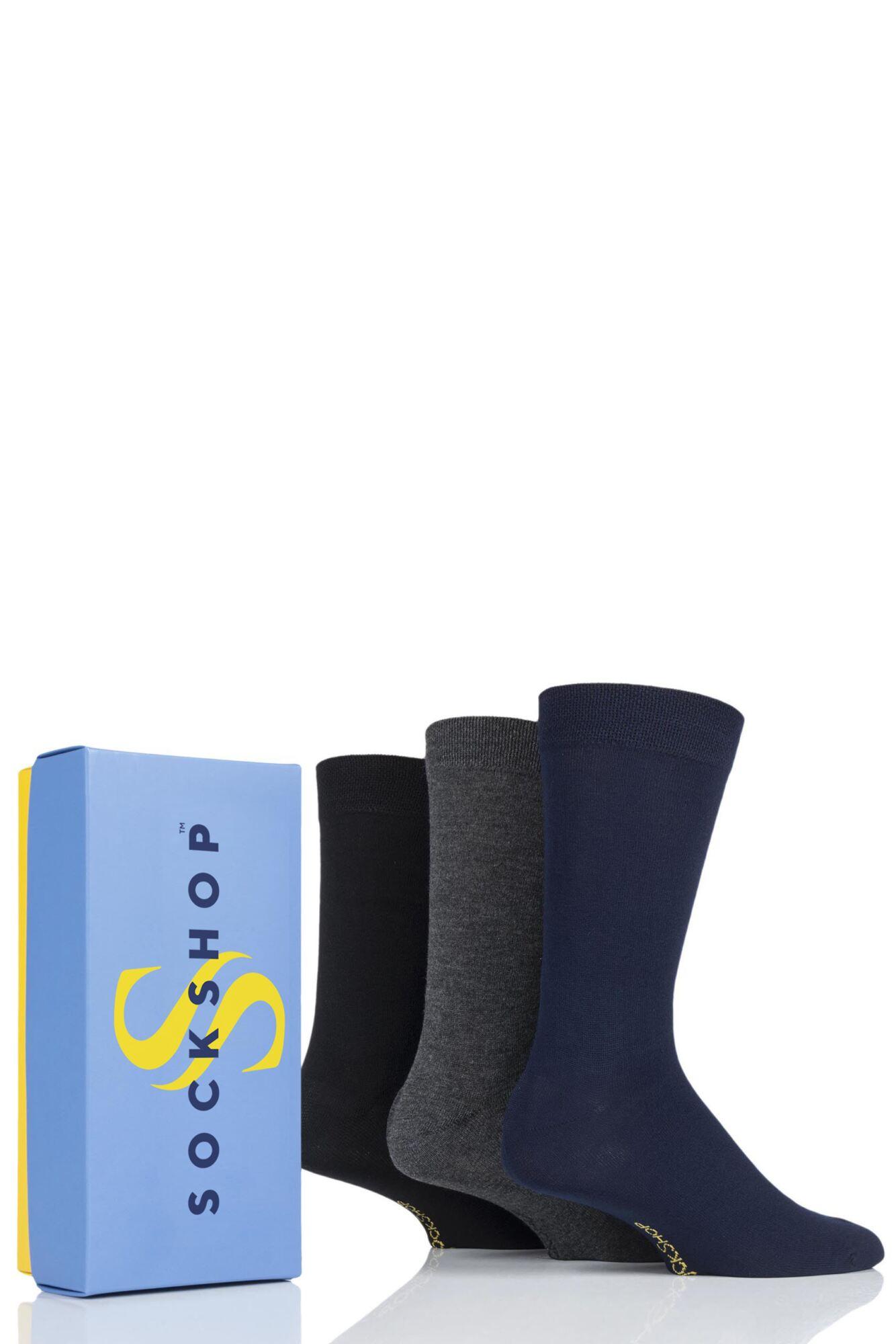 3 Pair Bamboo Bright Gift Boxed Socks Men's - SOCKSHOP