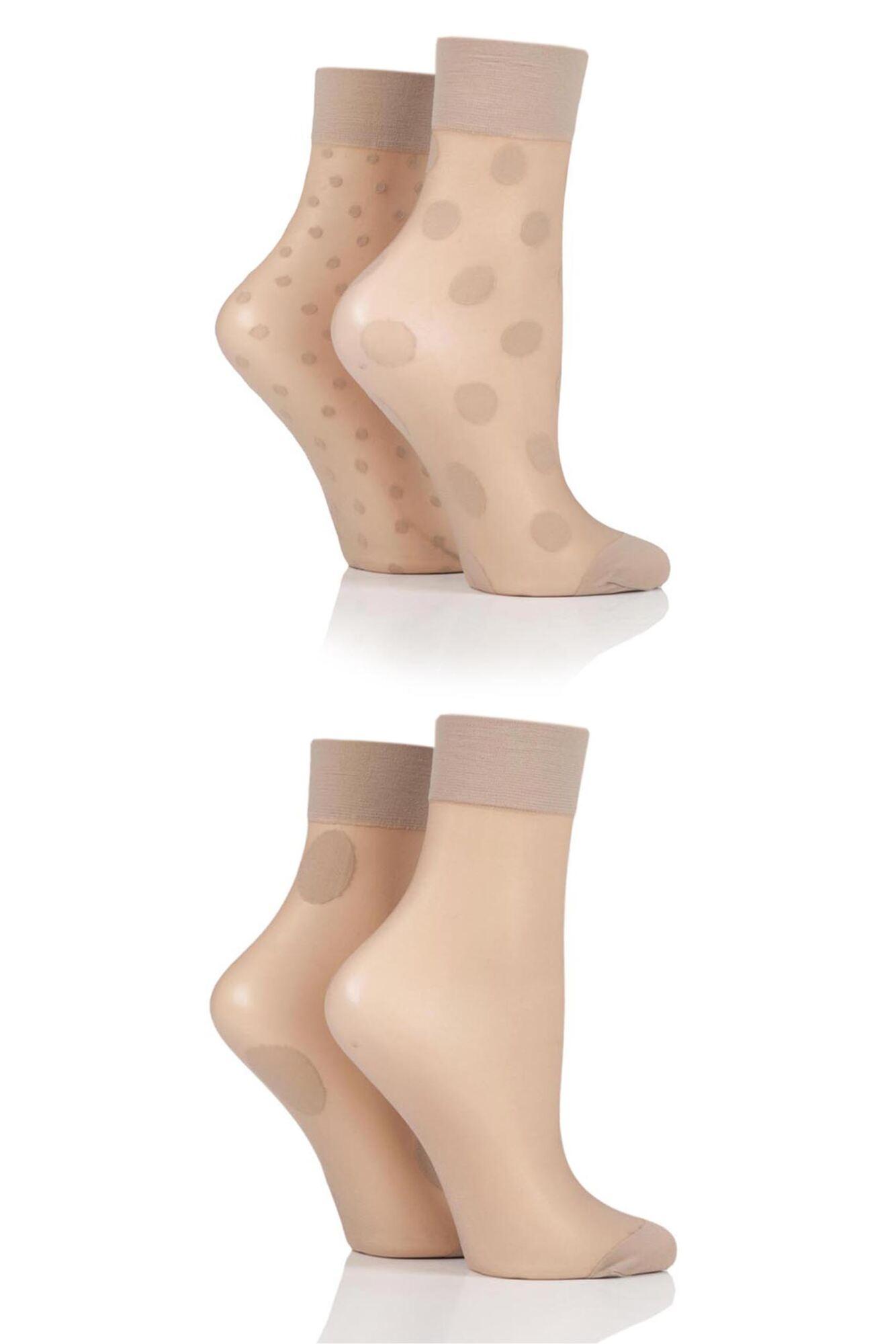 Ladies 4 Pair Pringle Spotted Pop Socks