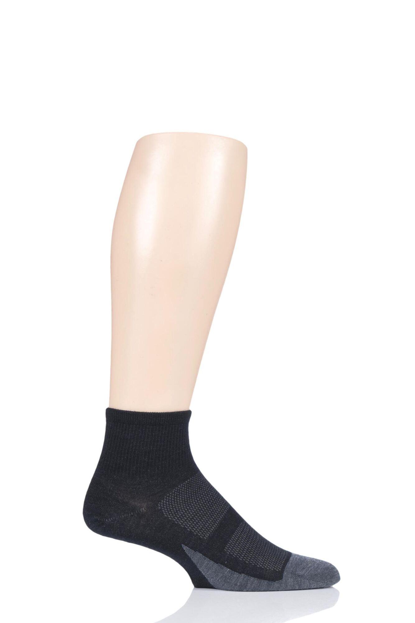 1 Pair Merino 10 Light Cushion Quarter Socks Unisex - Feetures
