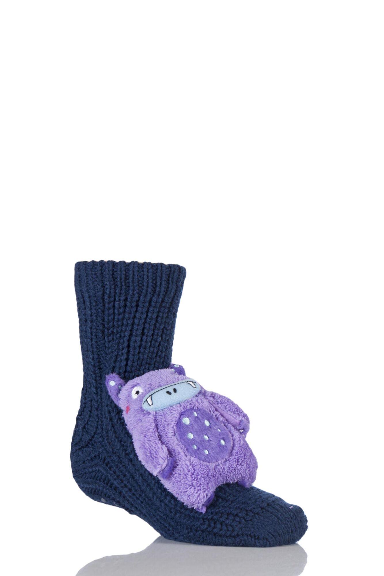1 Pair Toy Box Socks Monster With Non-slip Grip Boys