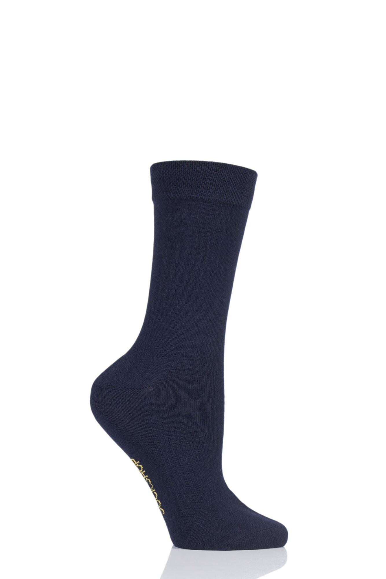 1 Pair Colour Burst Bamboo Socks with Smooth Toe Seams Ladies - SOCKSHOP