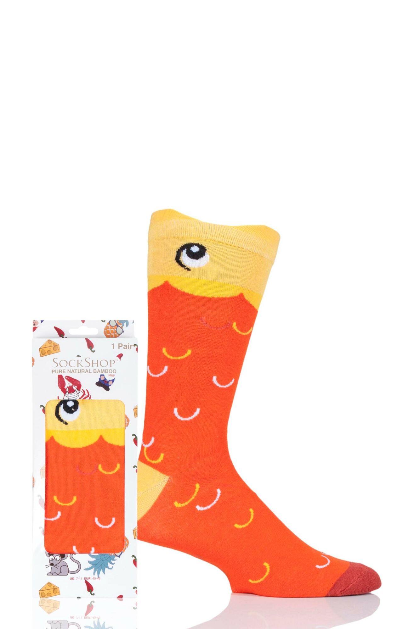 1 Pair Bamboo Goldfish Gift Boxed Socks Unisex - Lazy Panda