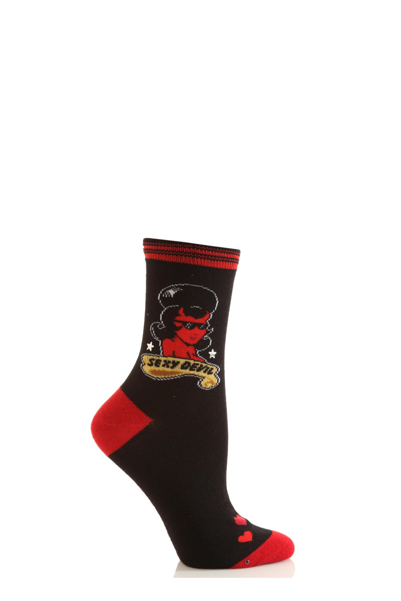 1 Pair Dare To Wear Novelty Socks - Sexy Devil 75% OFF Ladies - SOCKSHOP