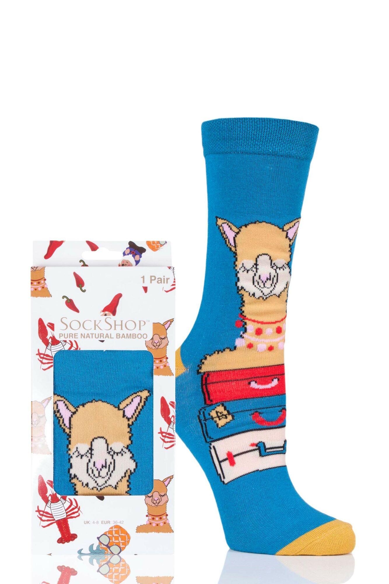 1 Pair Bamboo Alpaca My Bags Gift Boxed Socks Ladies - Lazy Panda