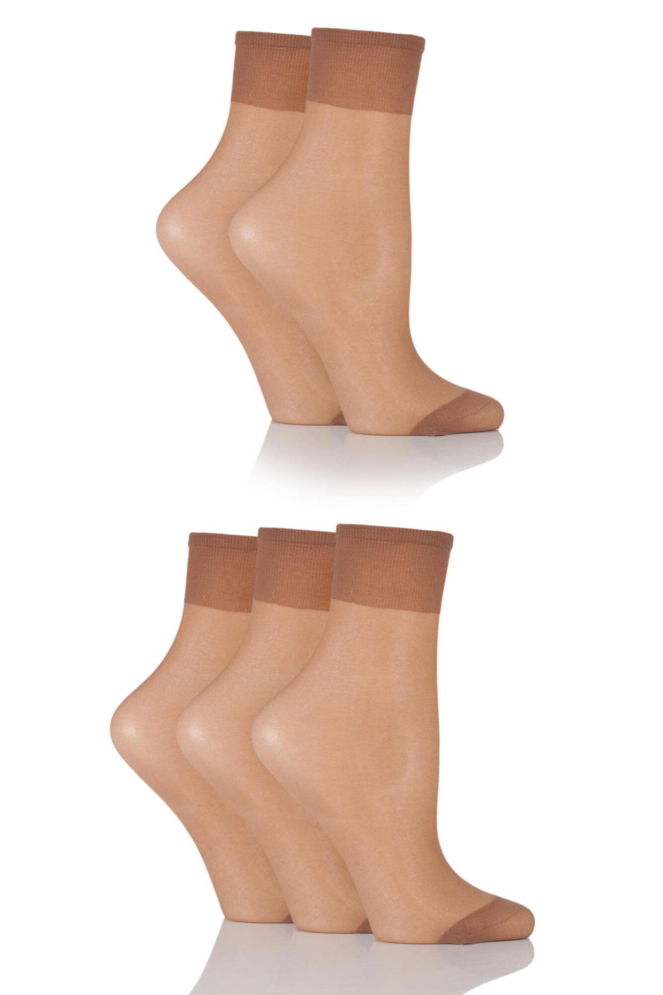 5 Pair 15 Denier Ankle Highs Ladies - Sockshop