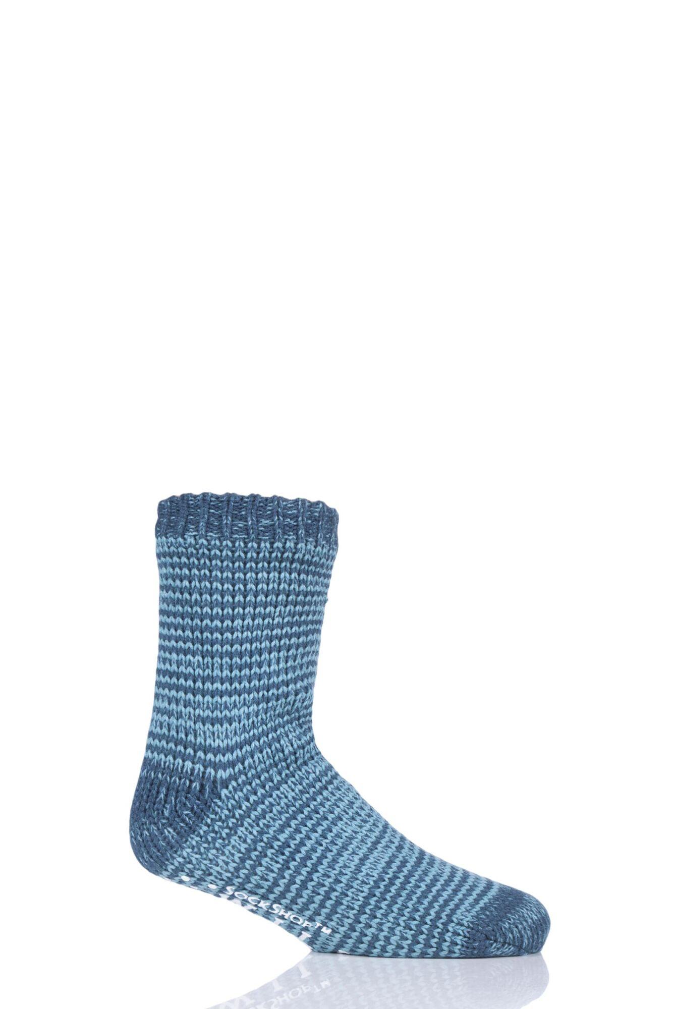 1 Pair Chunky Fleece Lined Lounge Socks Men's - Wild Feet