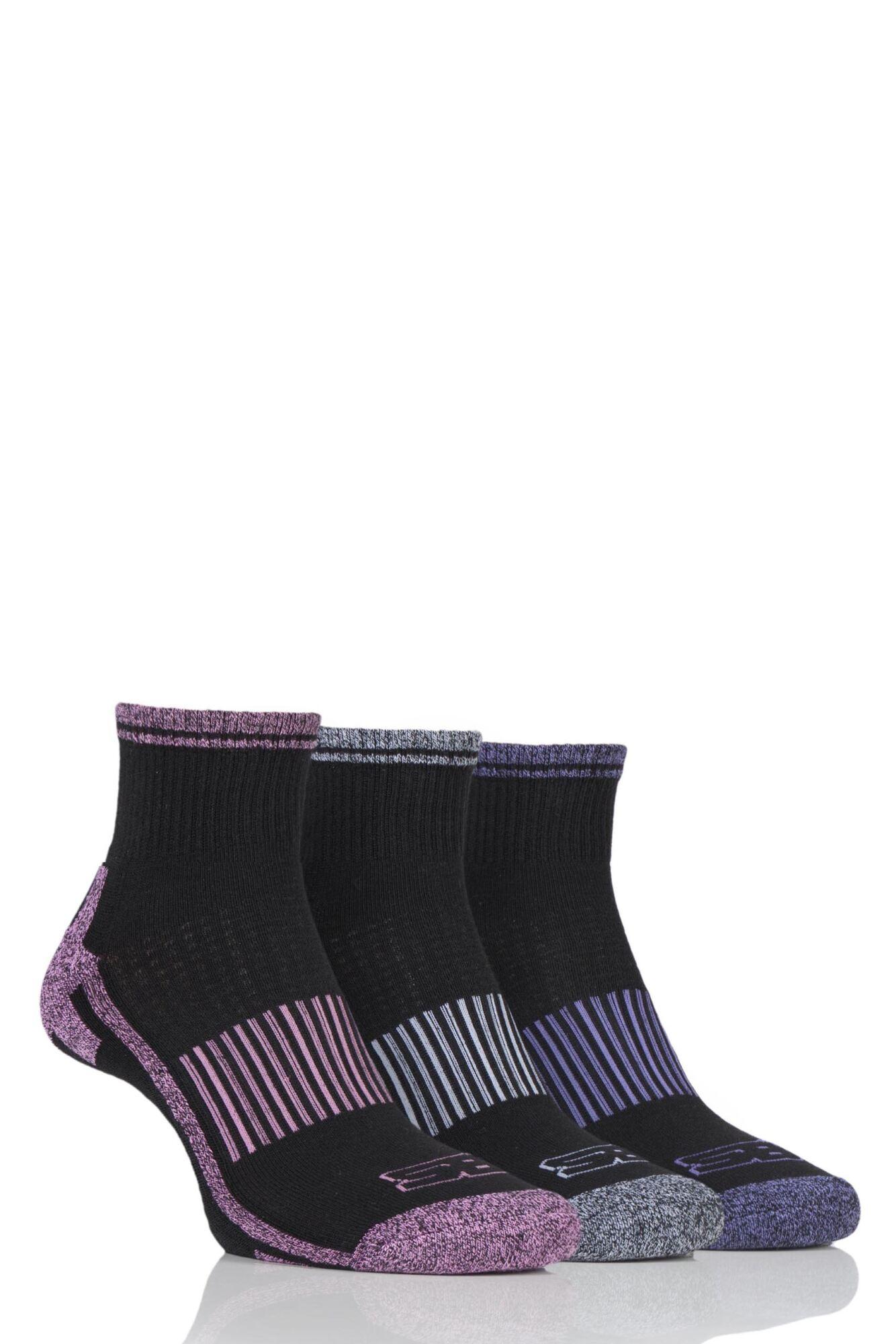 3 Pair Ankle Socks Ladies - Storm Bloc
