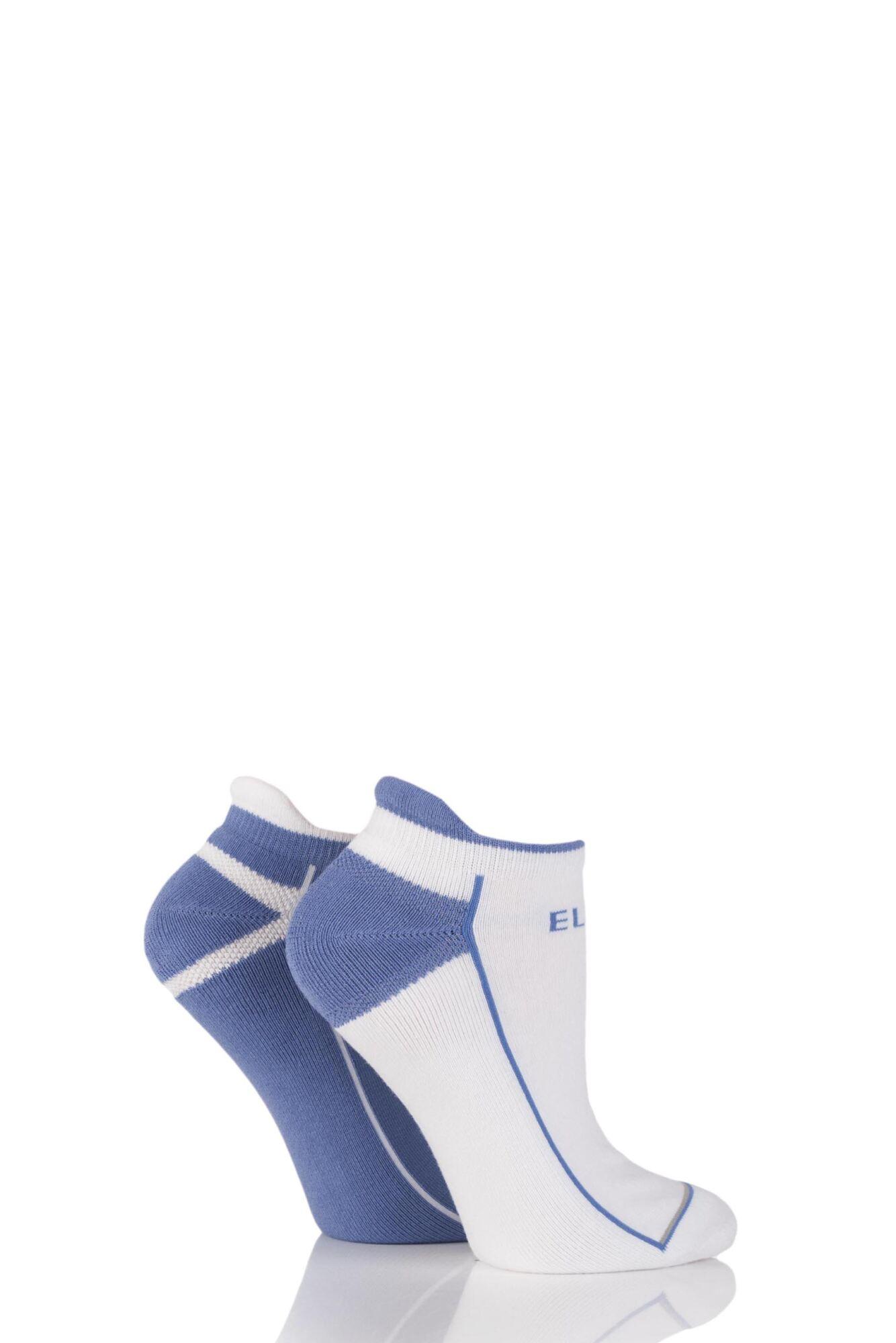 2 Pair Sports Trainer Socks Ladies - Elle