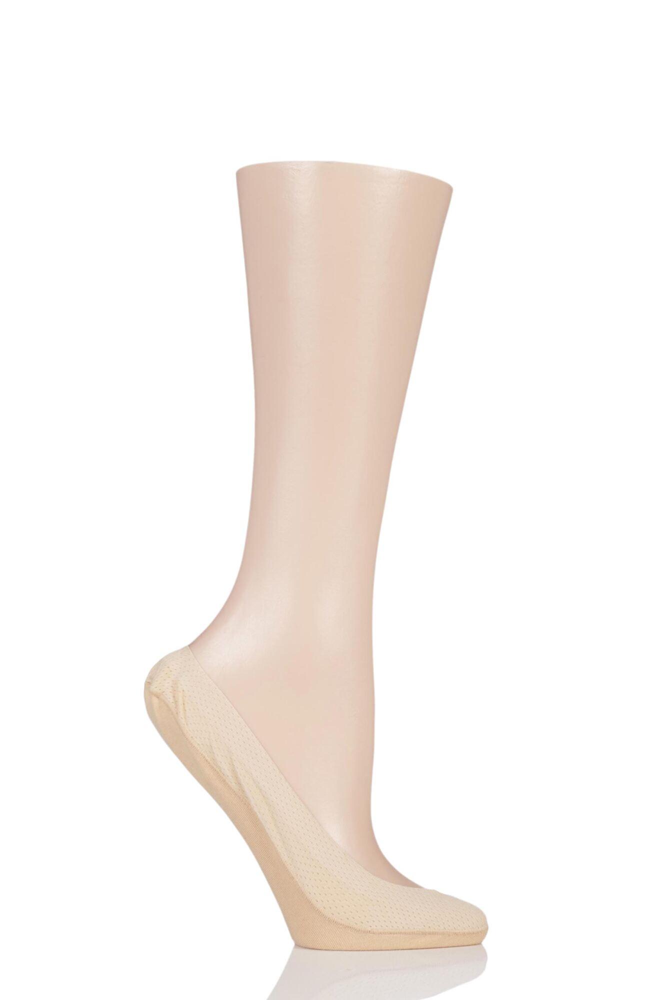 1 Pair Pin Dot Shoe Liner Socks Ladies - Elle