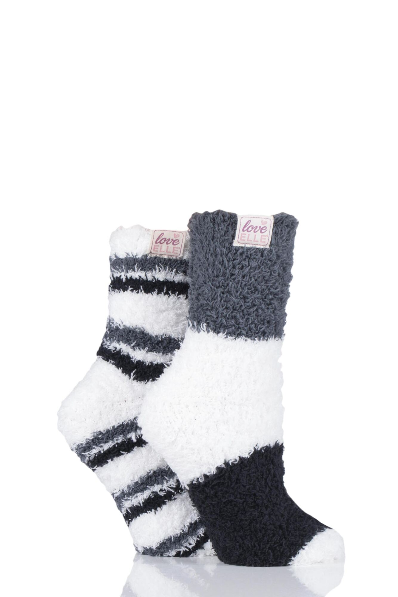2 Pair Fluffy and Cosy Blissful Bed Time Socks Ladies - Elle