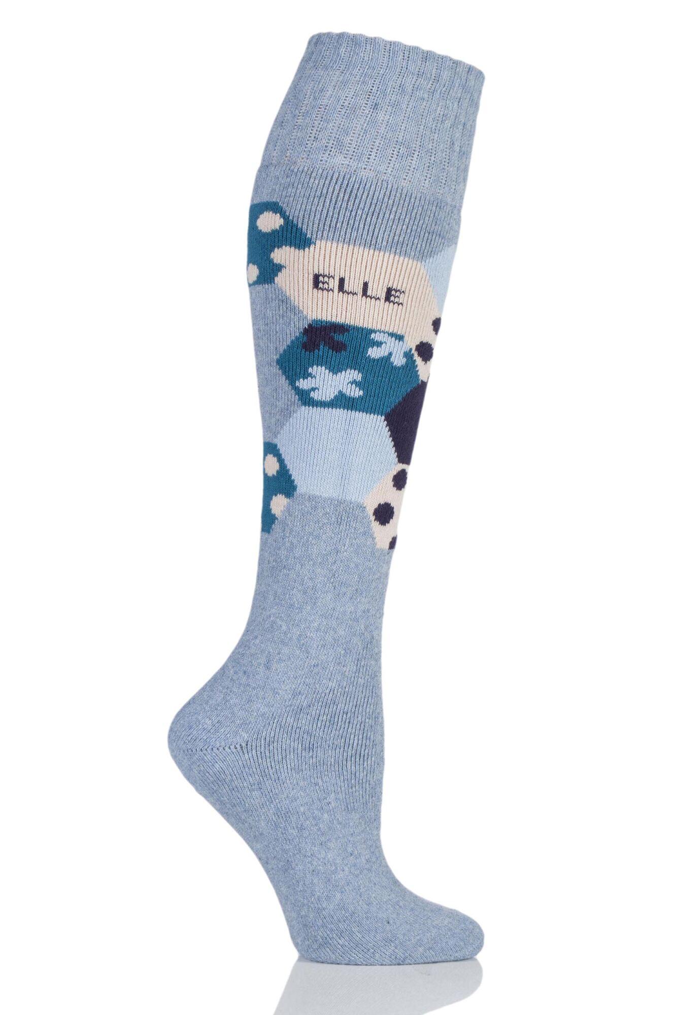 1 Pair Wool Blend Winter Knee High Socks Ladies - Elle