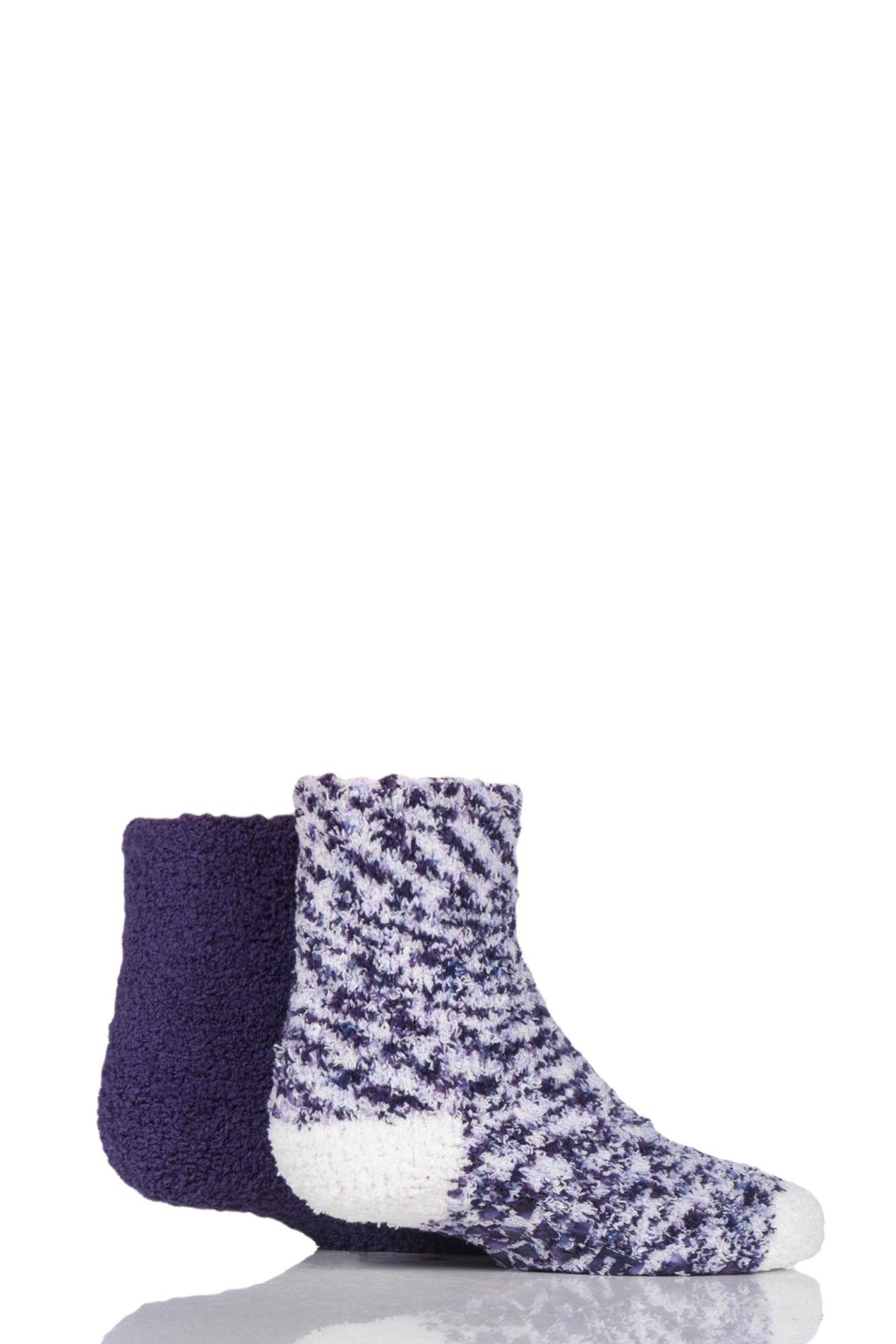 2 Pair Cosy Bed And Slipper Socks Girls - Elle