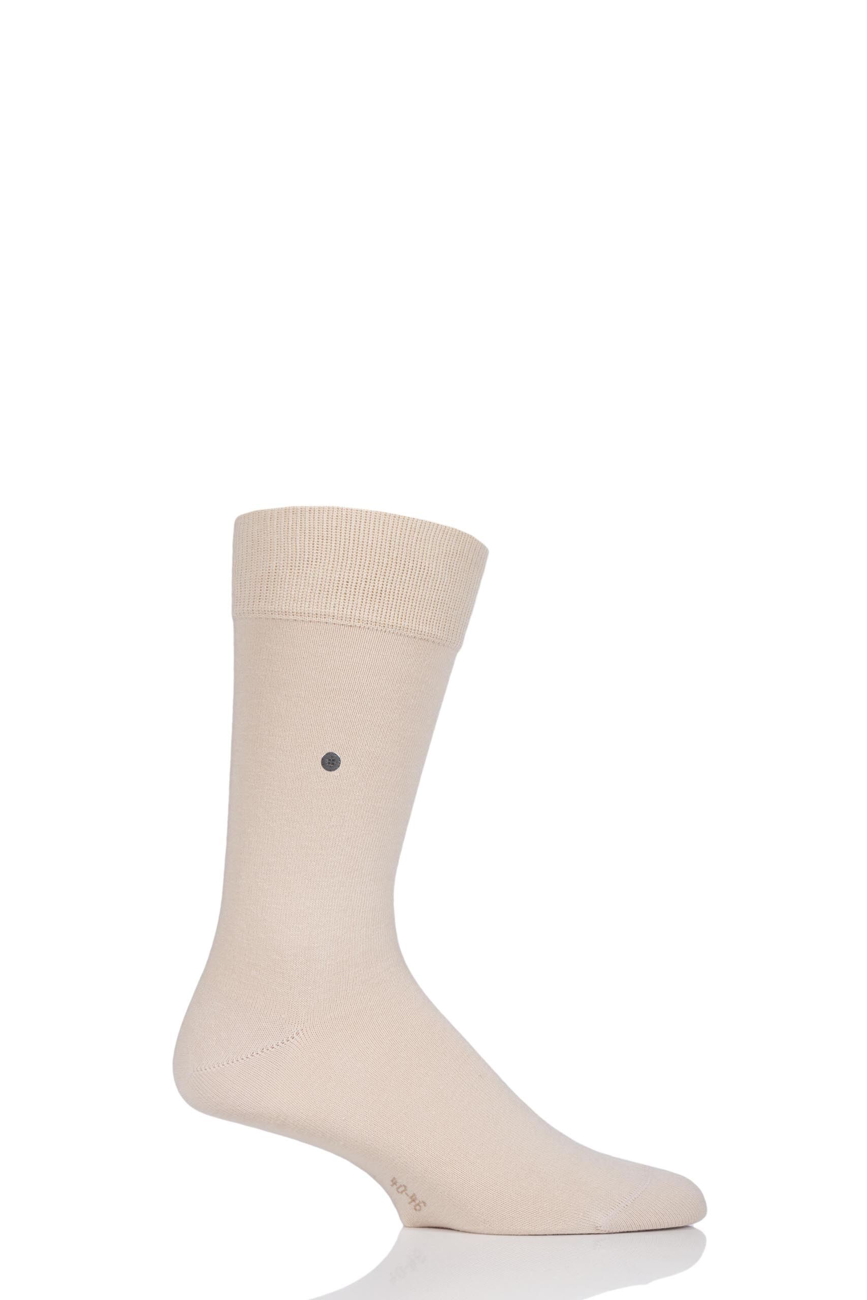 Image of 1 Pair Beige Lord Plain Cotton Socks Men's 6.5-11 Mens - Burlington