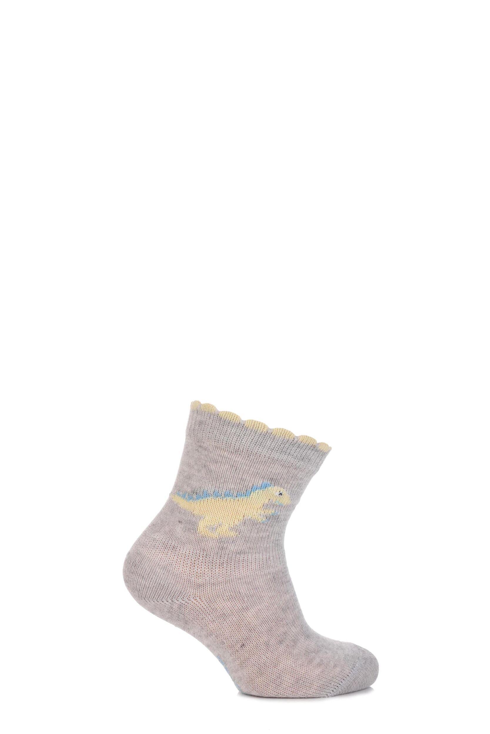 Image of Babies 1 Pair Falke Dinosaur Cotton Socks