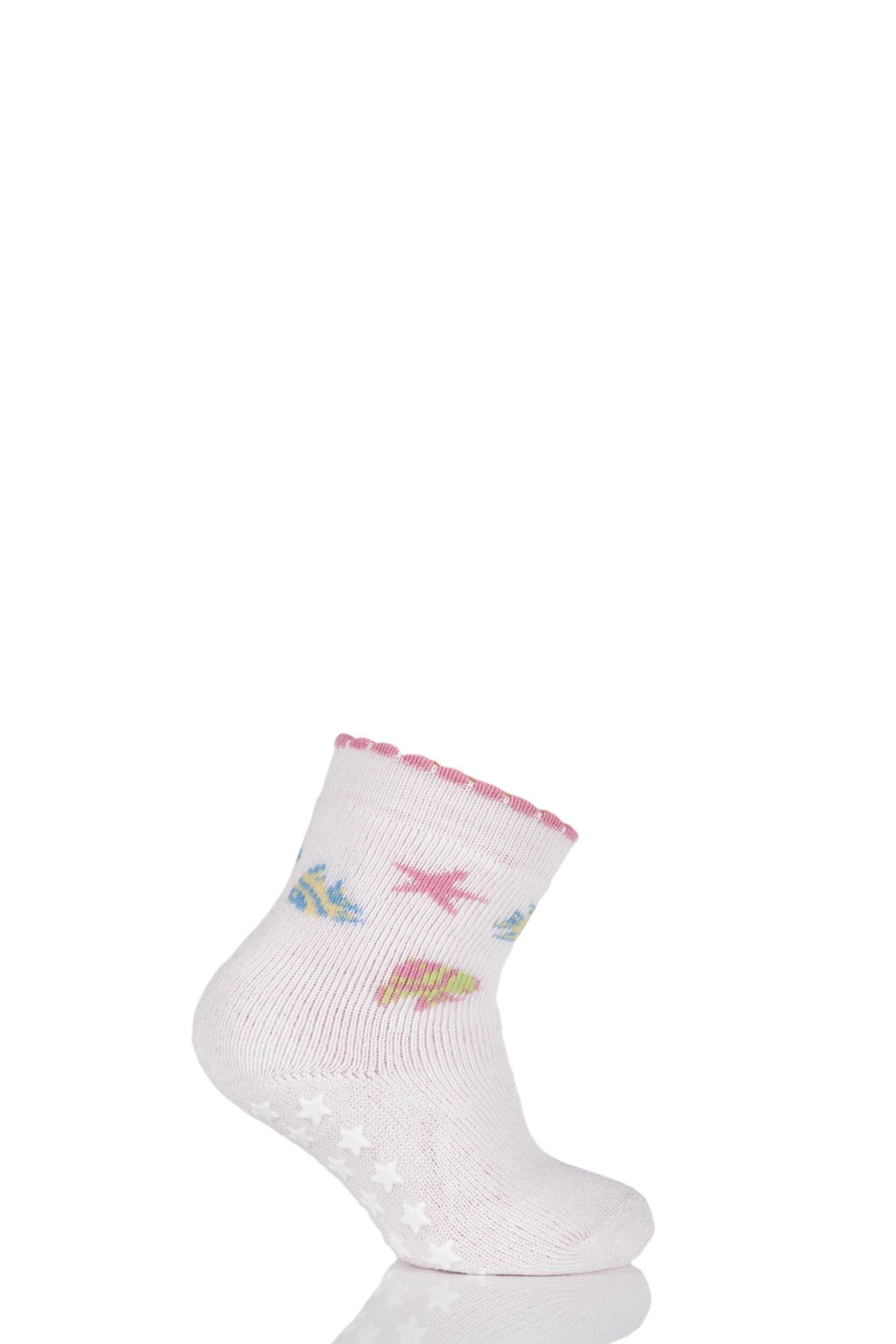 Image of Babies 1 Pair Falke Fish Catspads Socks with Starfish Grip