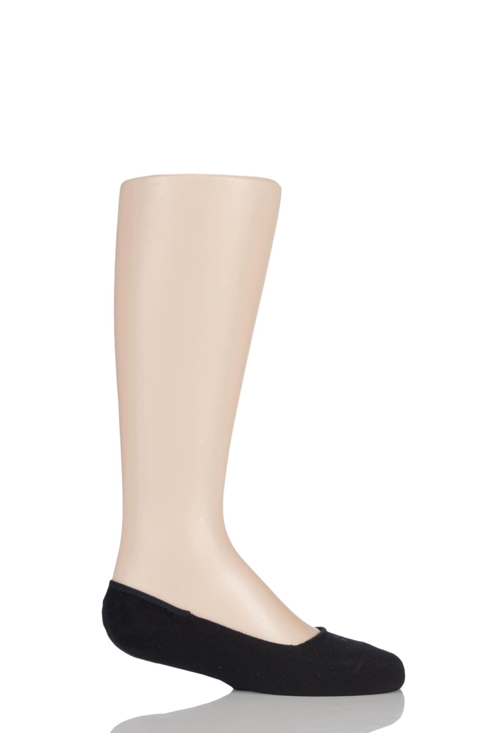 1 Pair Black Invisible Step Shoe Liners Kids Unisex 3-5 Teens (12-13 Years) - Falke