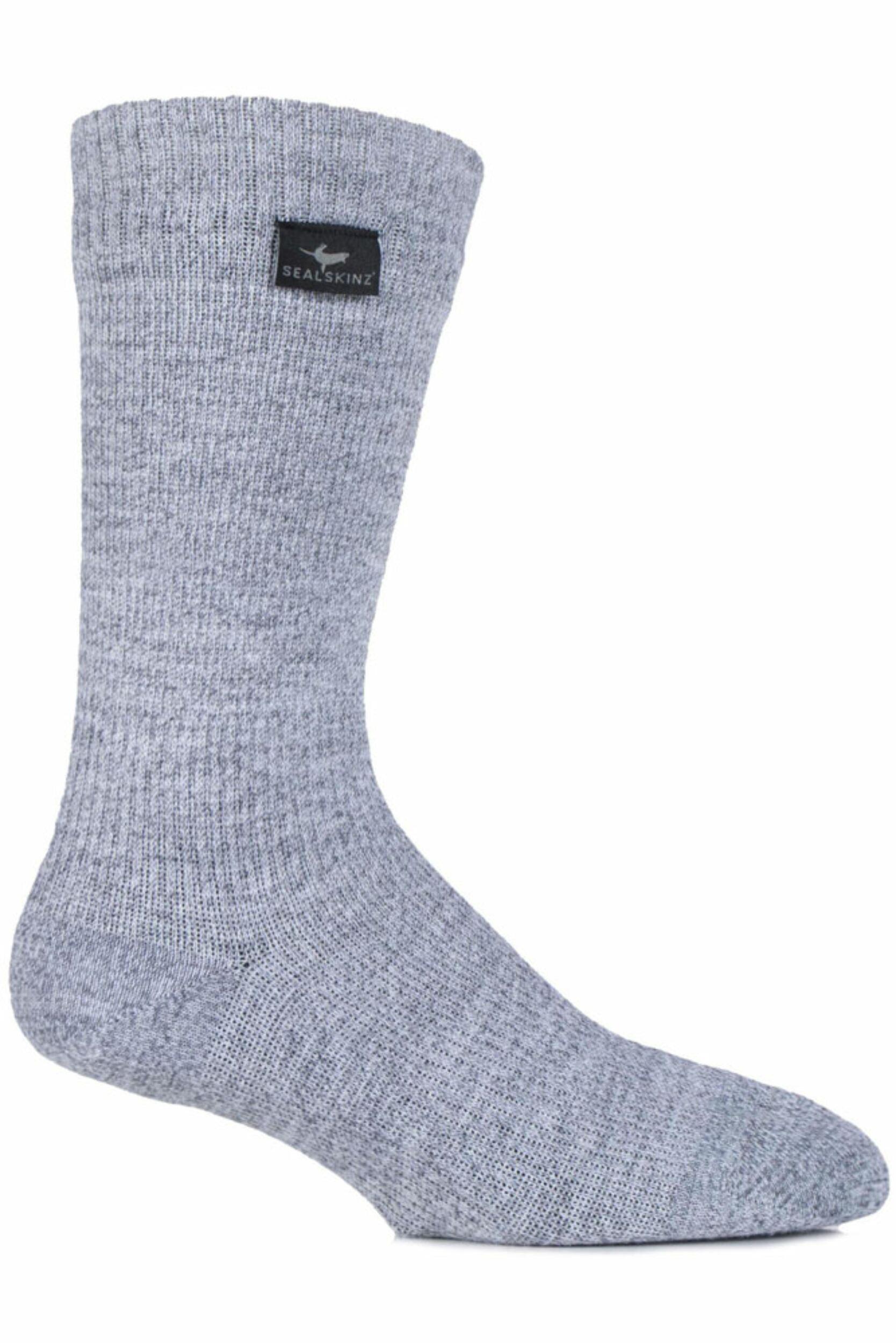 Image of Mens and Ladies 1 Pair SealSkinz 100% Waterproof Mid Weight Hiking Socks