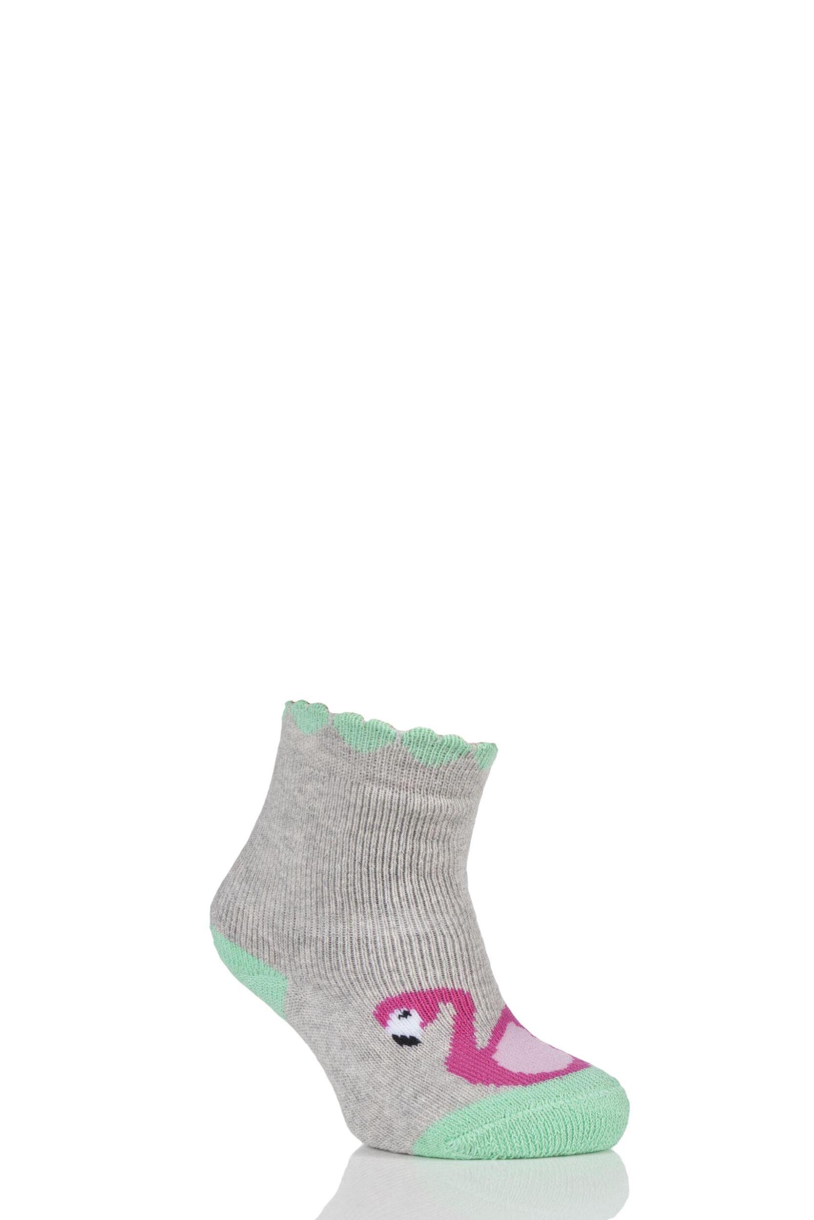 Image of Babies 1 Pair Falke Flamingo Catspad Socks with Grip