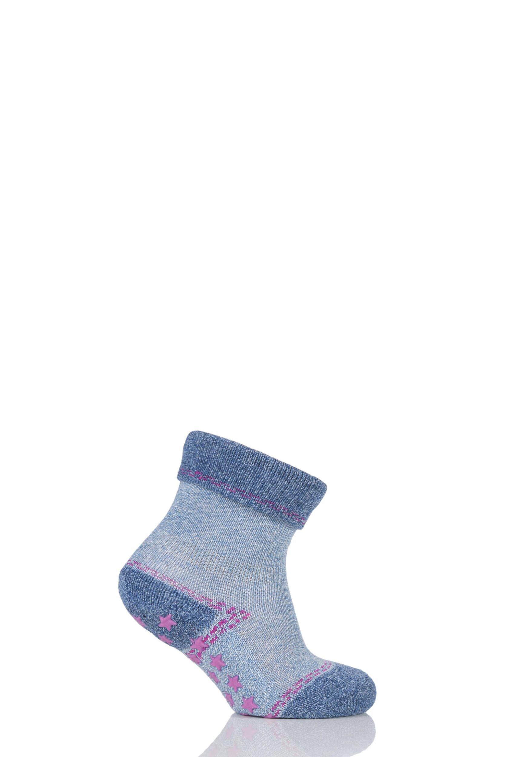 Image of Babies 1 Pair Falke Denim Catspad Socks with Grip