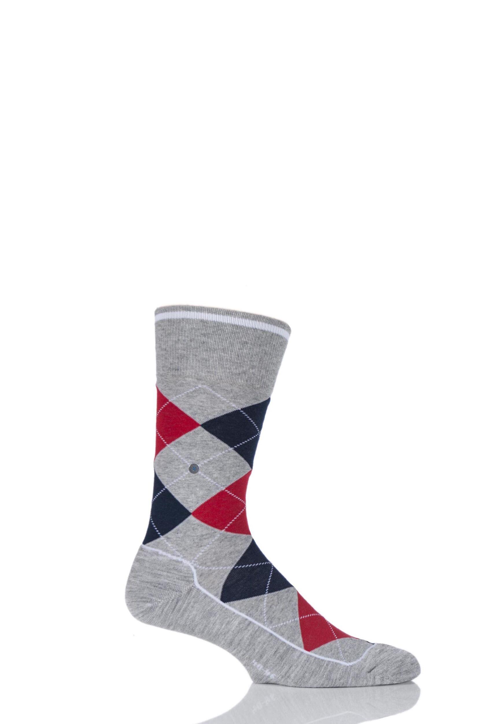 Mens 1 Pair Burlington Dorset Cotton Golf Argyle Socks