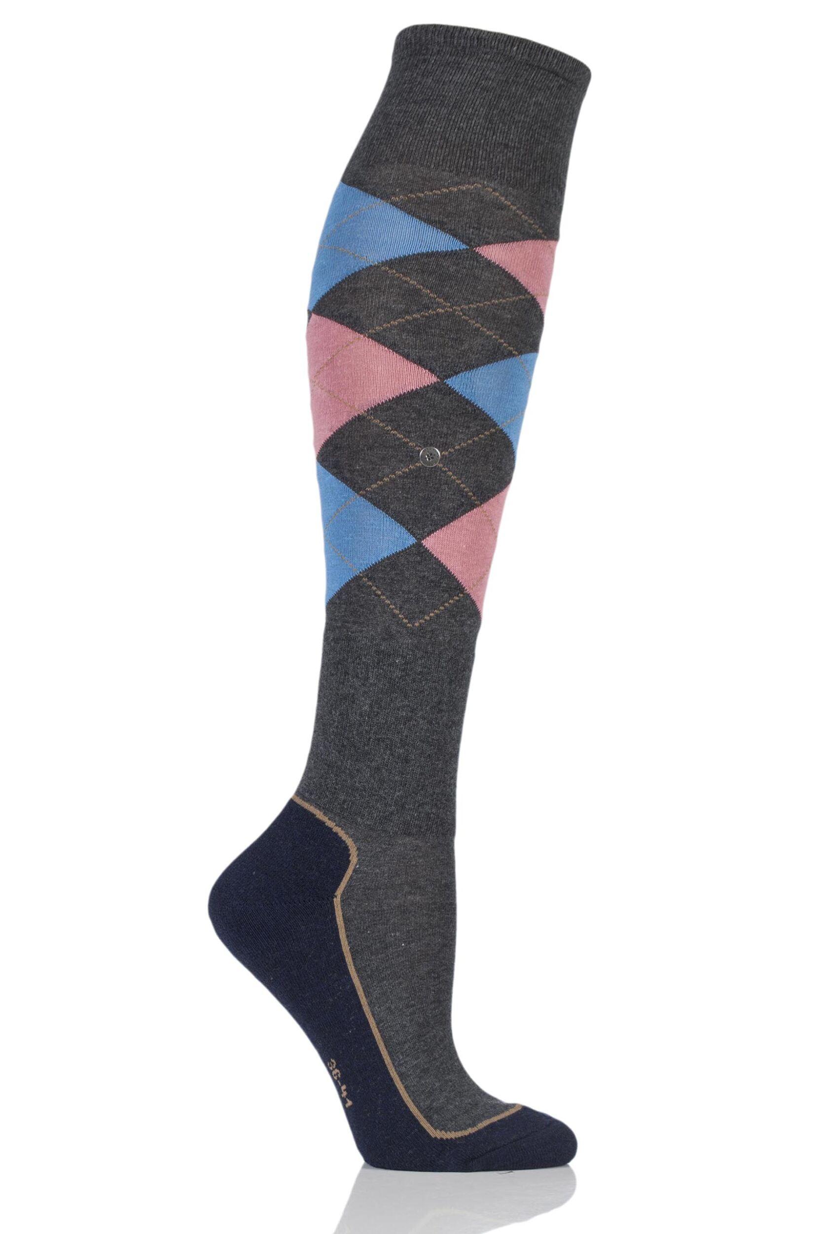Ladies 1 Pair Burlington Shetland Knee High Riding Socks