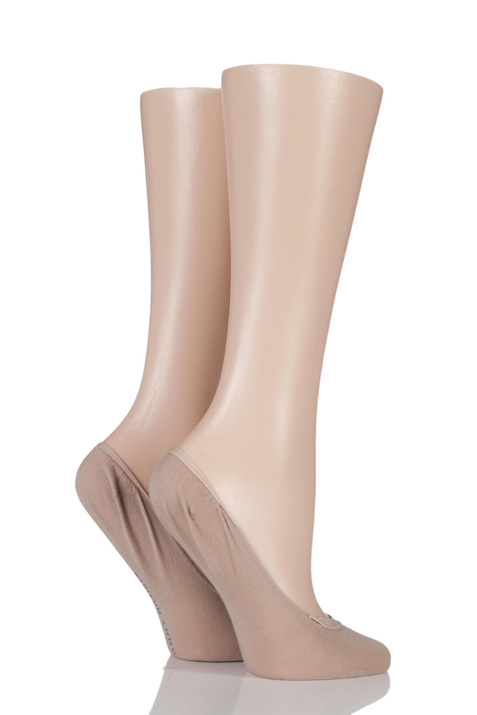 ladies 2 pair tommy hilfiger ballerina footies socks ebay. Black Bedroom Furniture Sets. Home Design Ideas