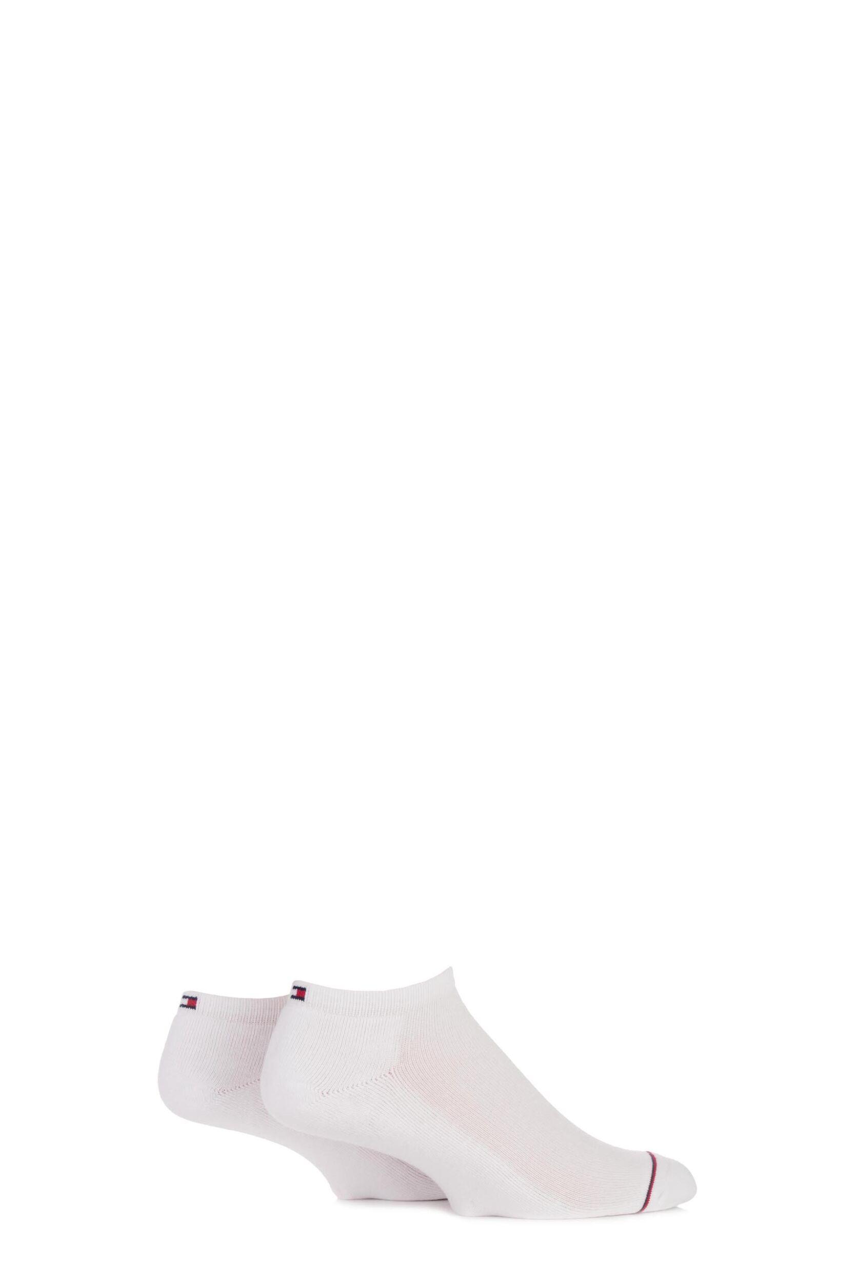 Mens 2 Pair Tommy Hilfiger Cotton Sneaker Sports Socks