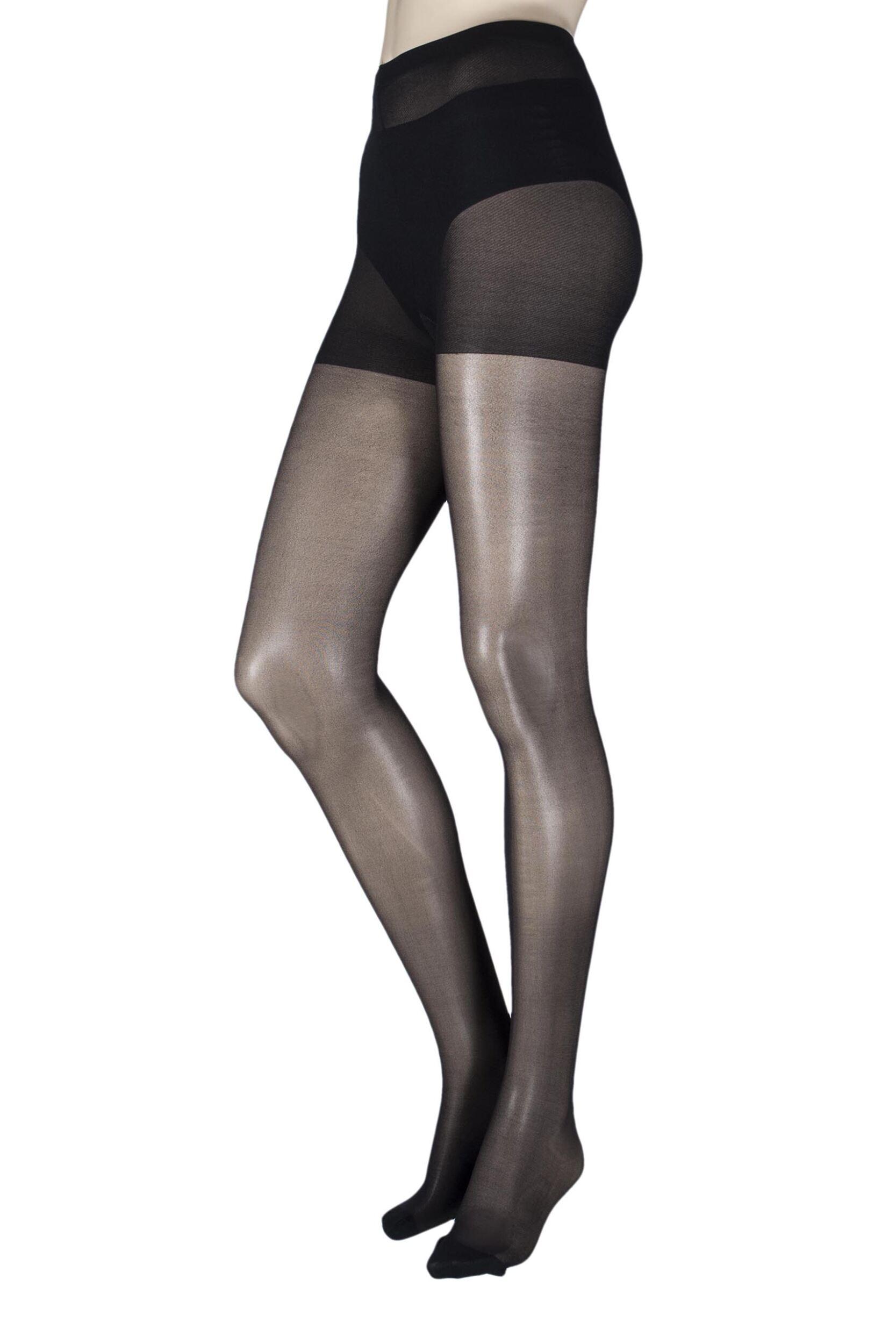 Image of 1 Pair Black 15 Denier Revitaliser Soft Shine Compression Tights Ladies Medium/Large - Pretty Legs