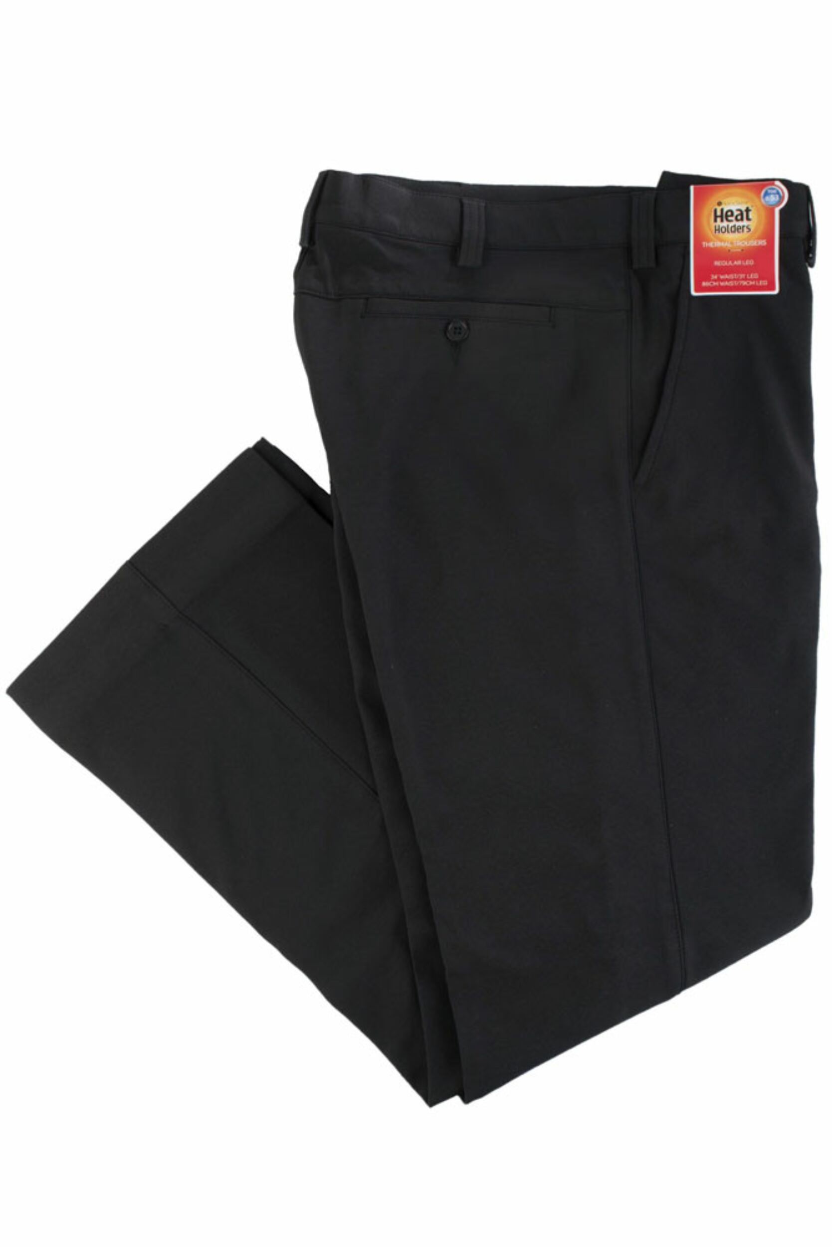 Image of 1 Pack Black 0.53 TOG Thermal Trousers Men's W36 L31 - Heat Holders