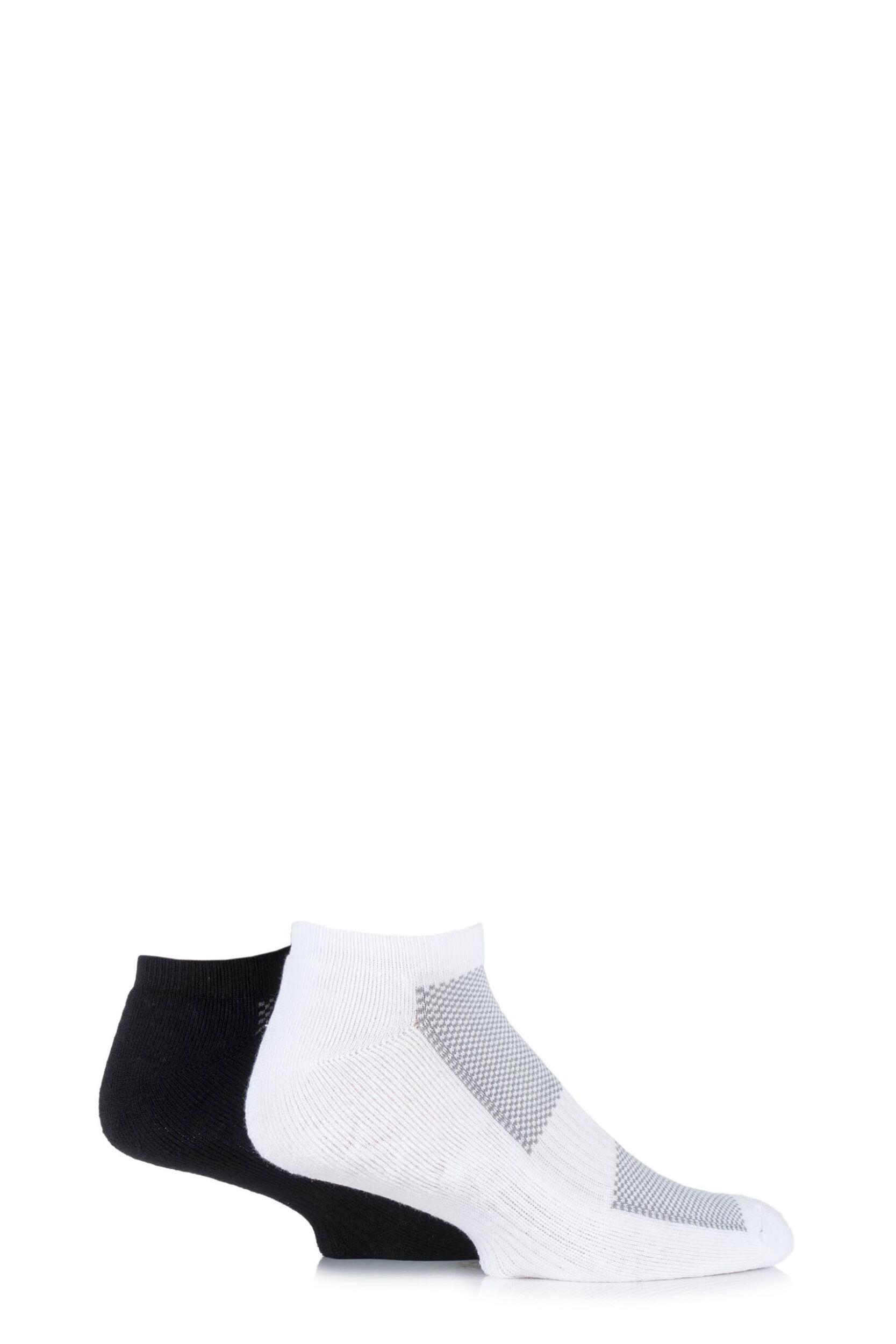 Mens 2 Pair HJ Hall Bamboo Cushioned Trainer Socks
