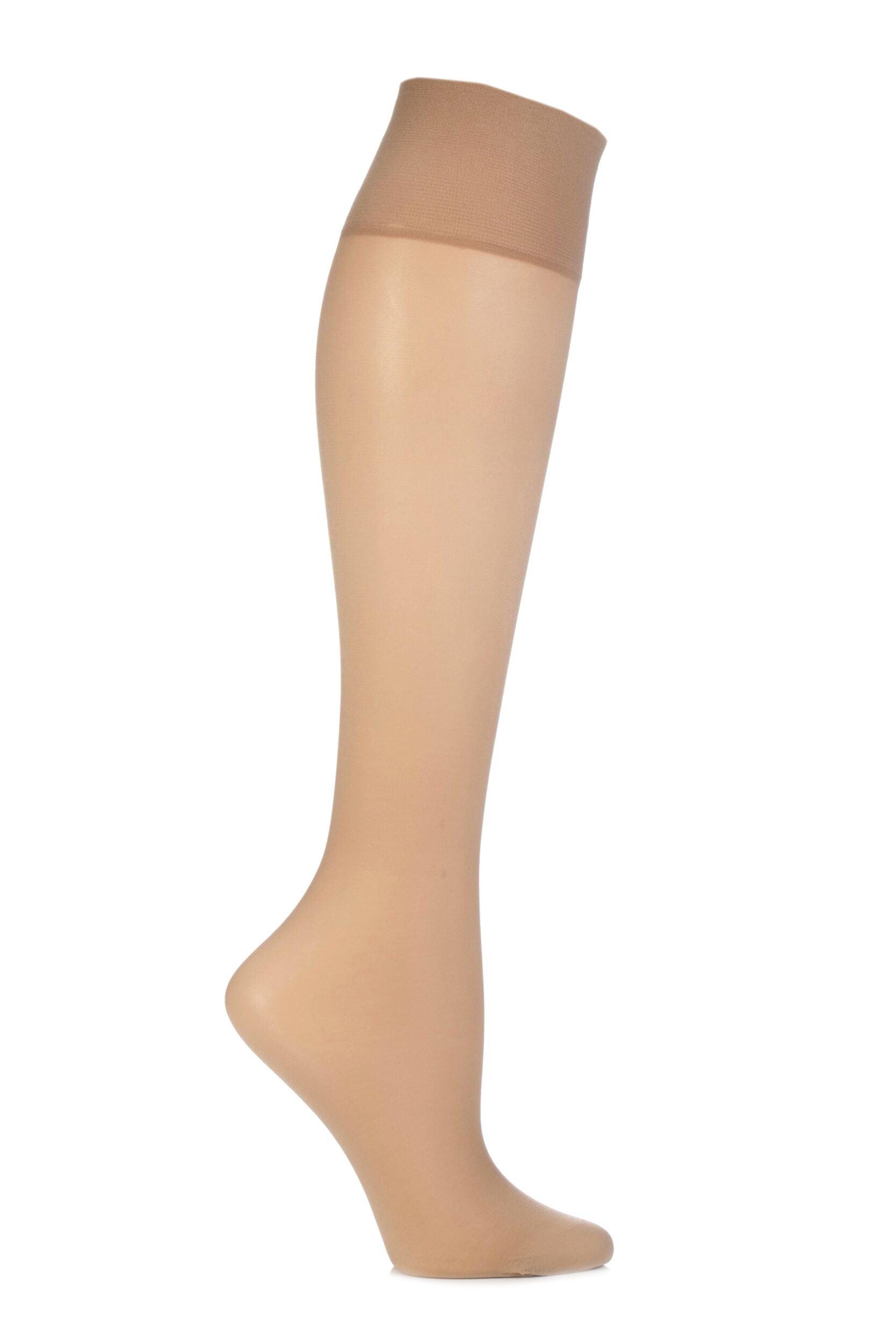Ladies 2 Pair Elbeo Sheer Magic Medium Support Knee Highs