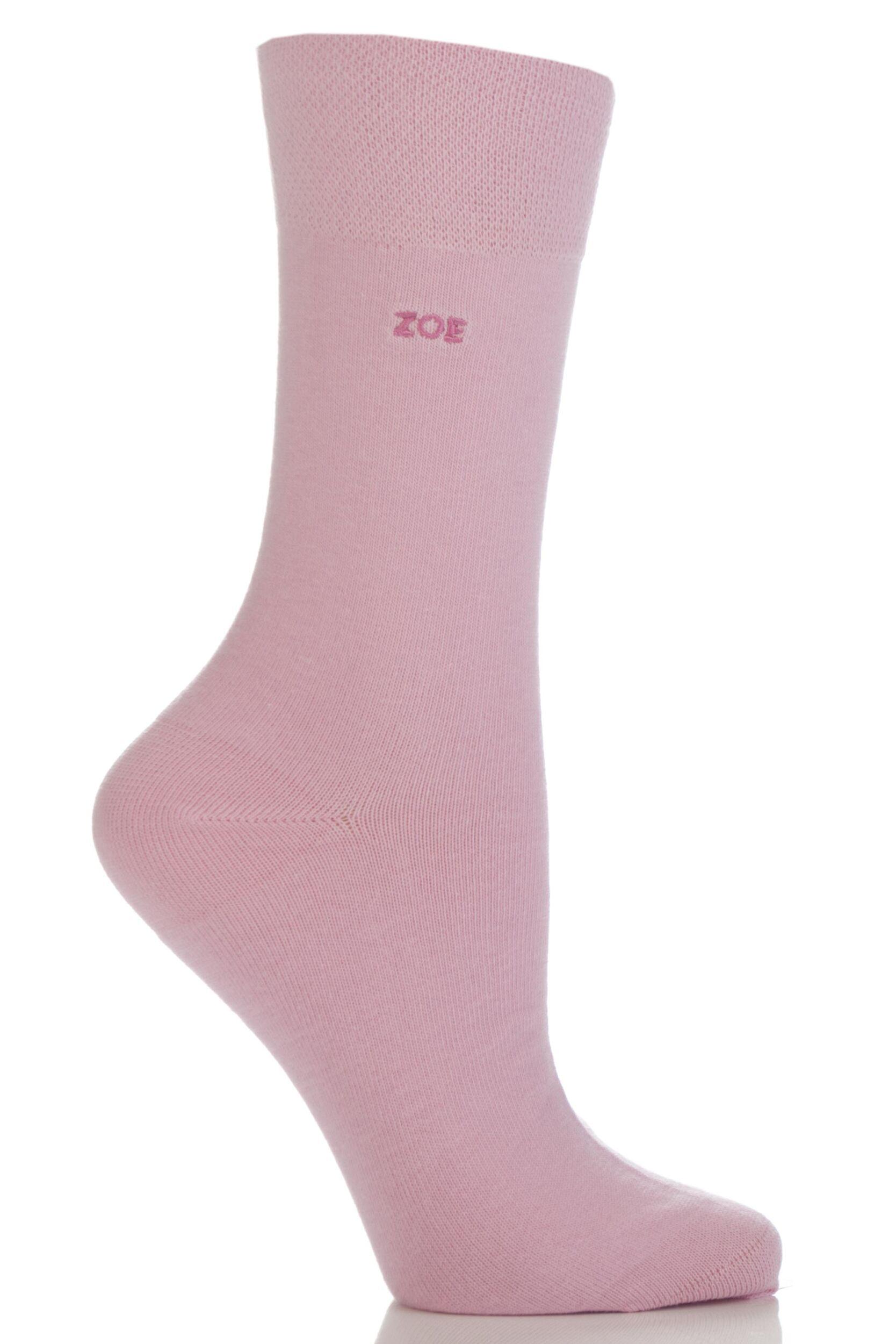 Men's Socks Ladies 1 Pair SockShop Individual Names Pink Embroidered Socks