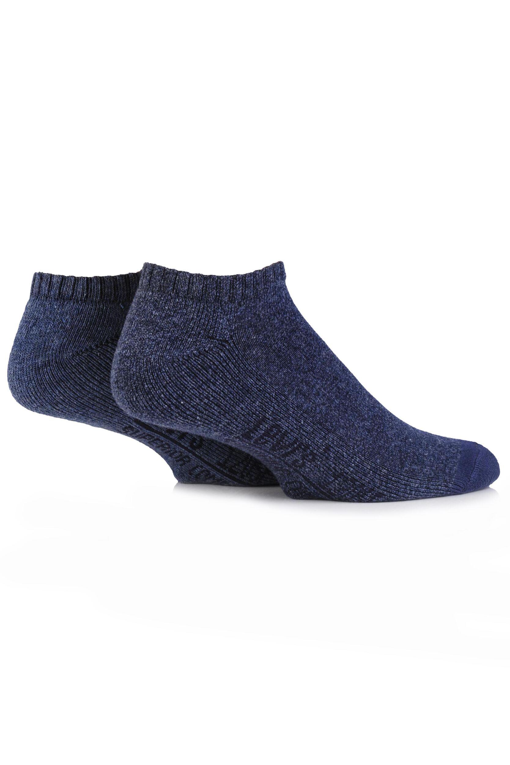 Image of Mens 2 Pair Levis 120SF Plain Cushioned Low Cut Socks