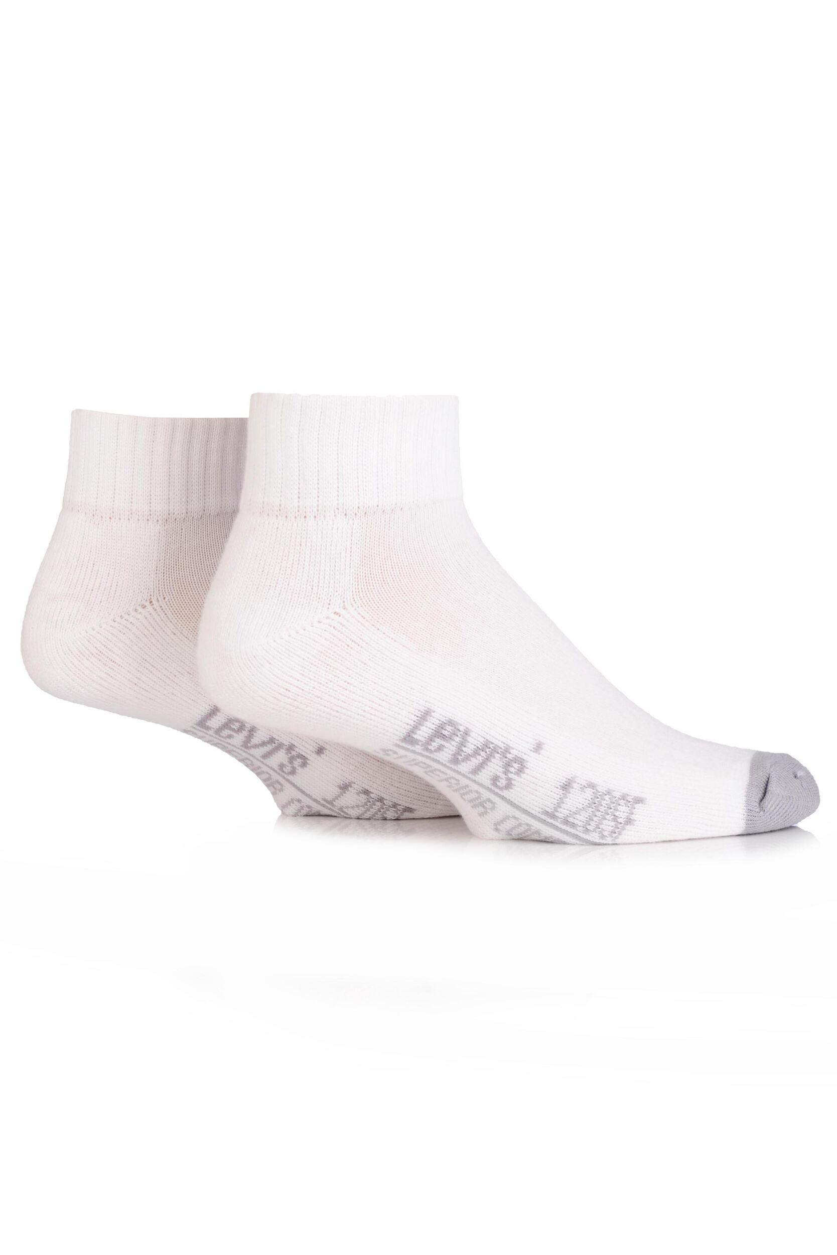 Image of Mens 2 Pair Levis 120SF Plain Cushioned Mid Cut Socks