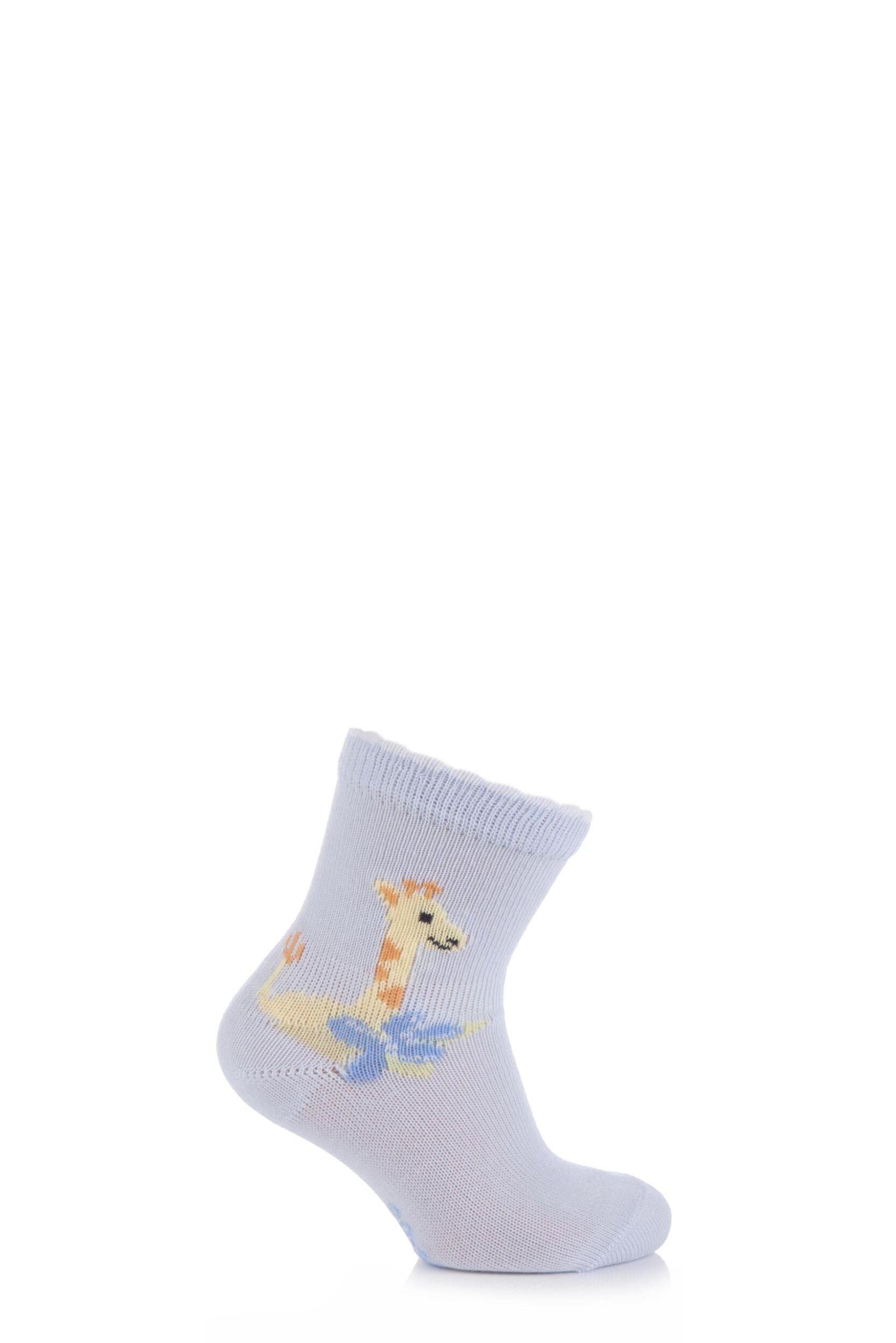 Image of Babies 1 Pair Falke Cotton Giraffe Socks