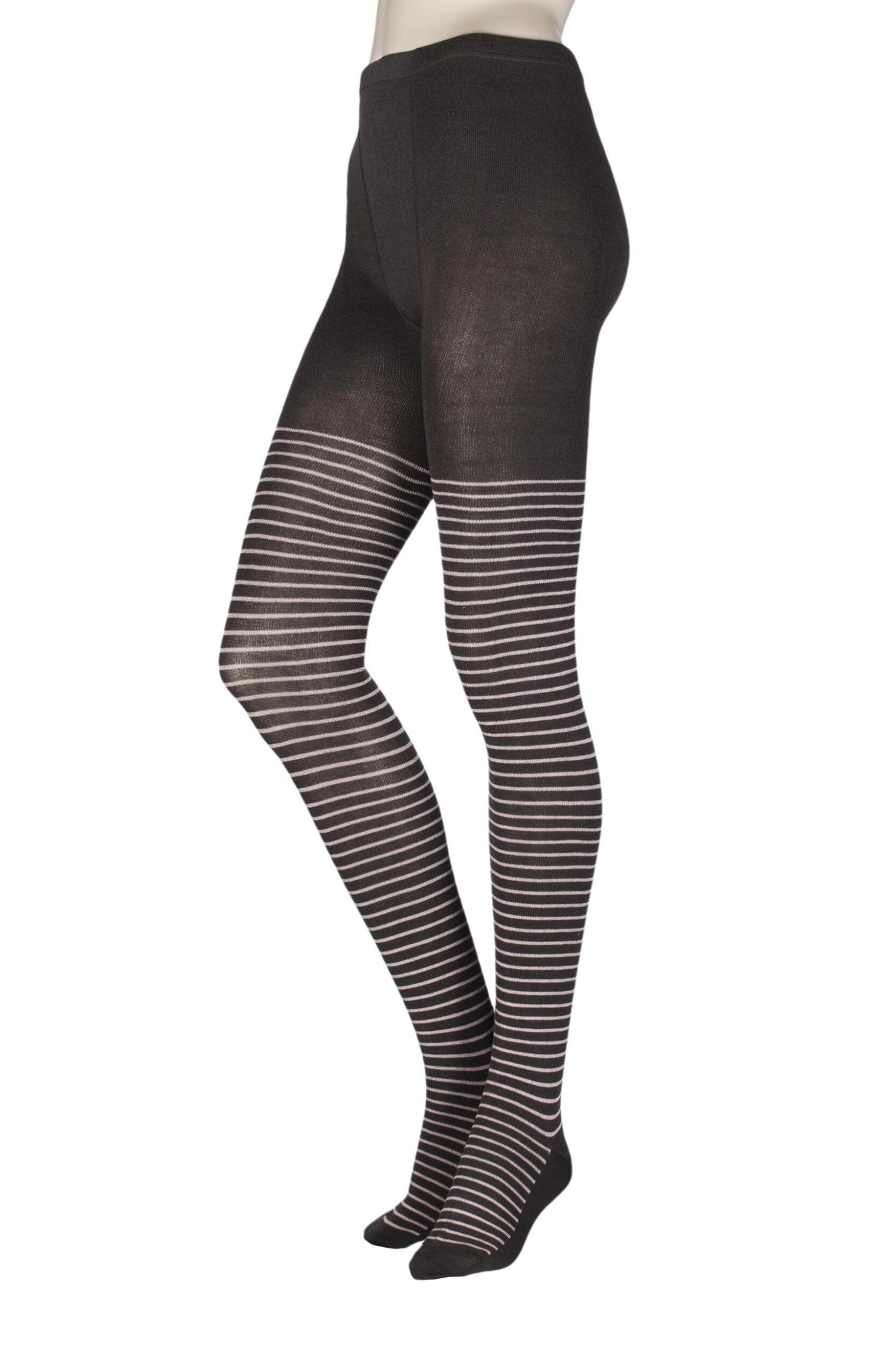 1 Pair Elle Winter Soft Stripe Tights