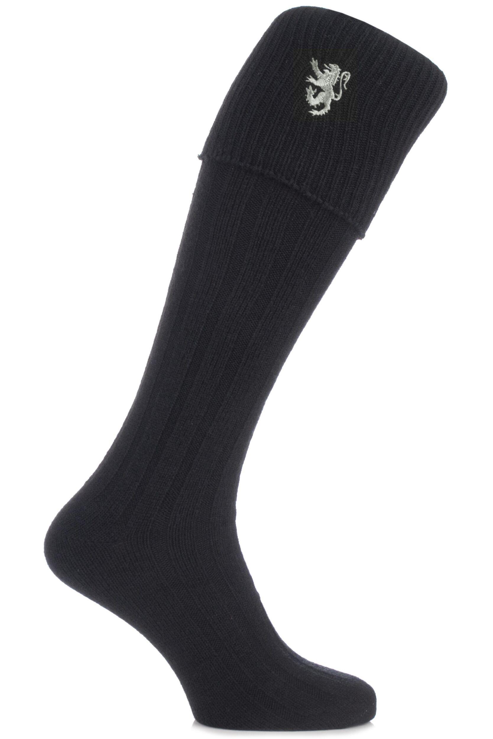 Mens 1 Pair HJ Hall Lion Rampant Wool Mix Kilt Socks