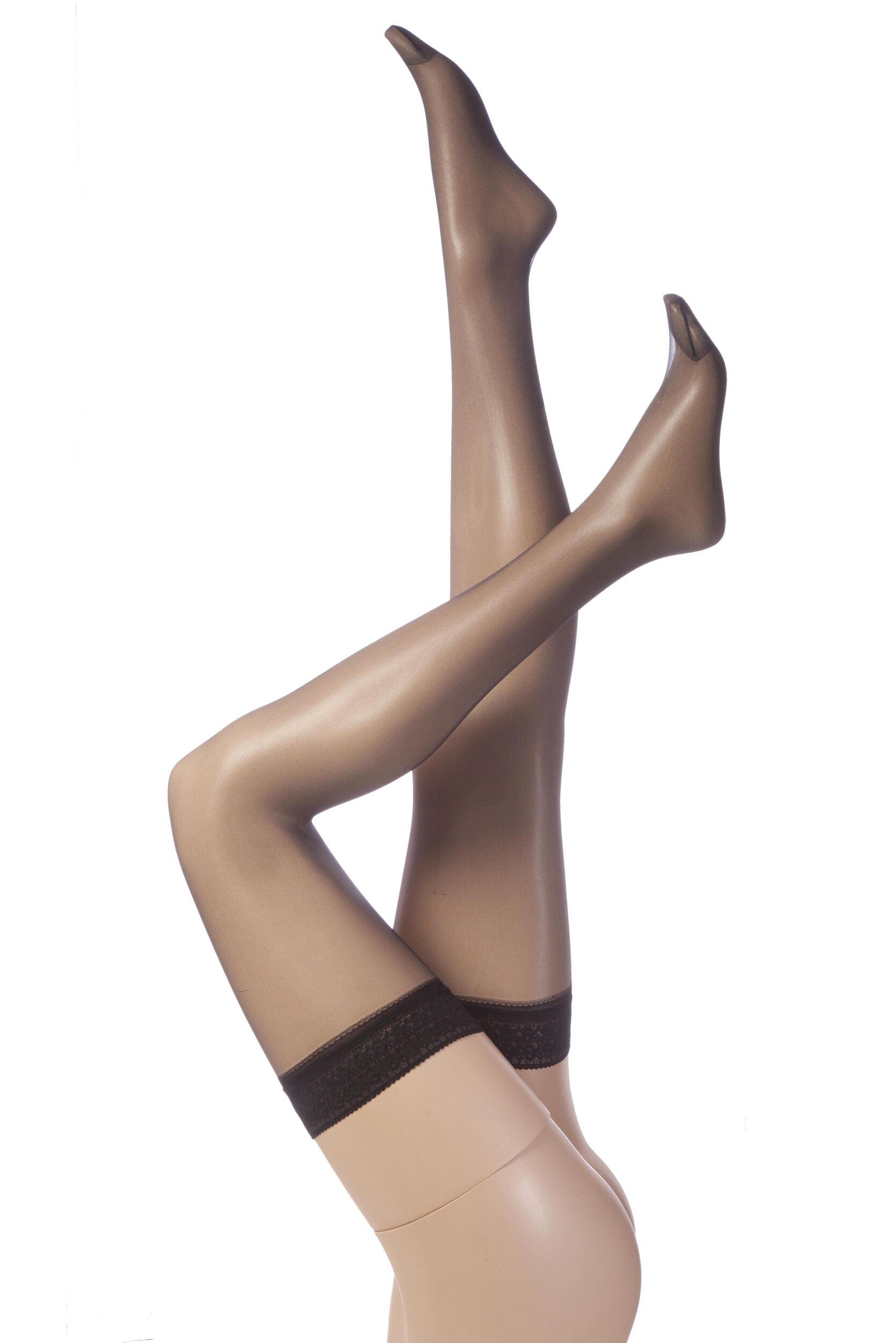 Ladies 6 Pair SockShop 15 Denier Smooth Sheer Hold Ups