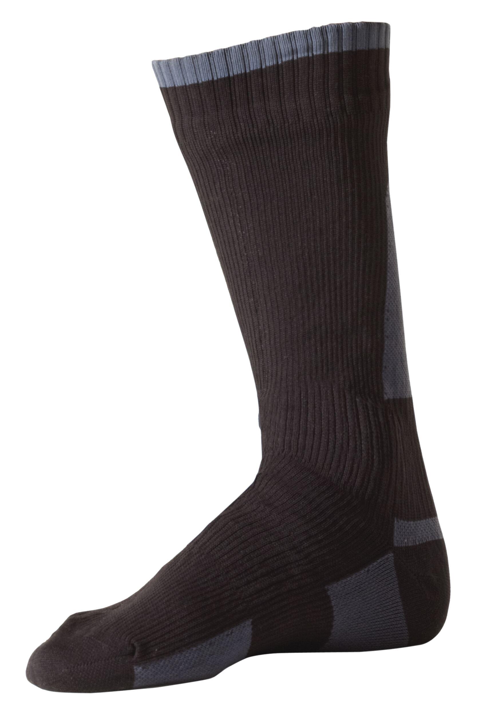 Image of Mens & Ladies 1 Pair Sealskinz New Mid Weight Mid Length 100% Waterproof Socks
