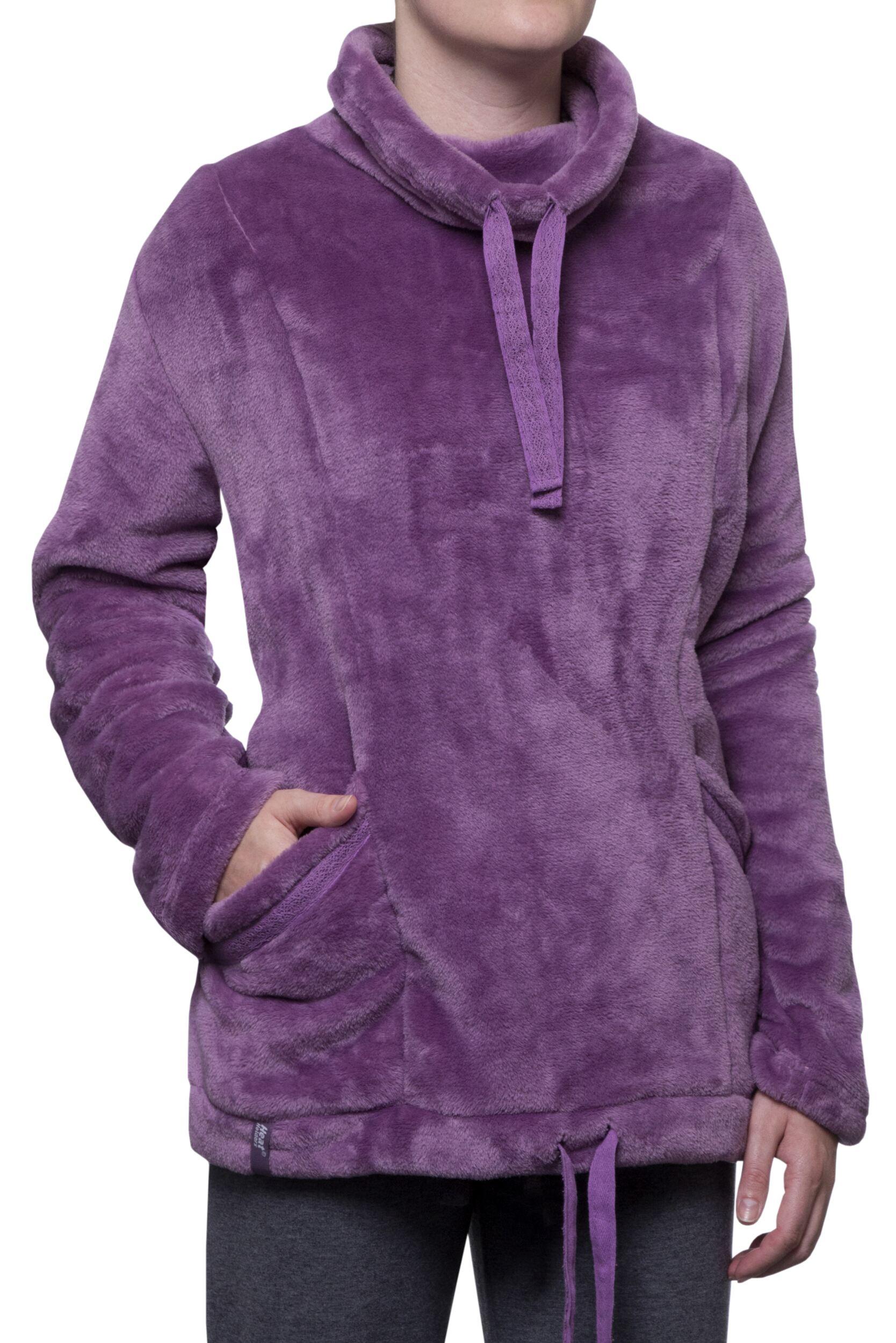 Image of Ladies SockShop Heat Holders Snugover Fleece Jumper In Purple