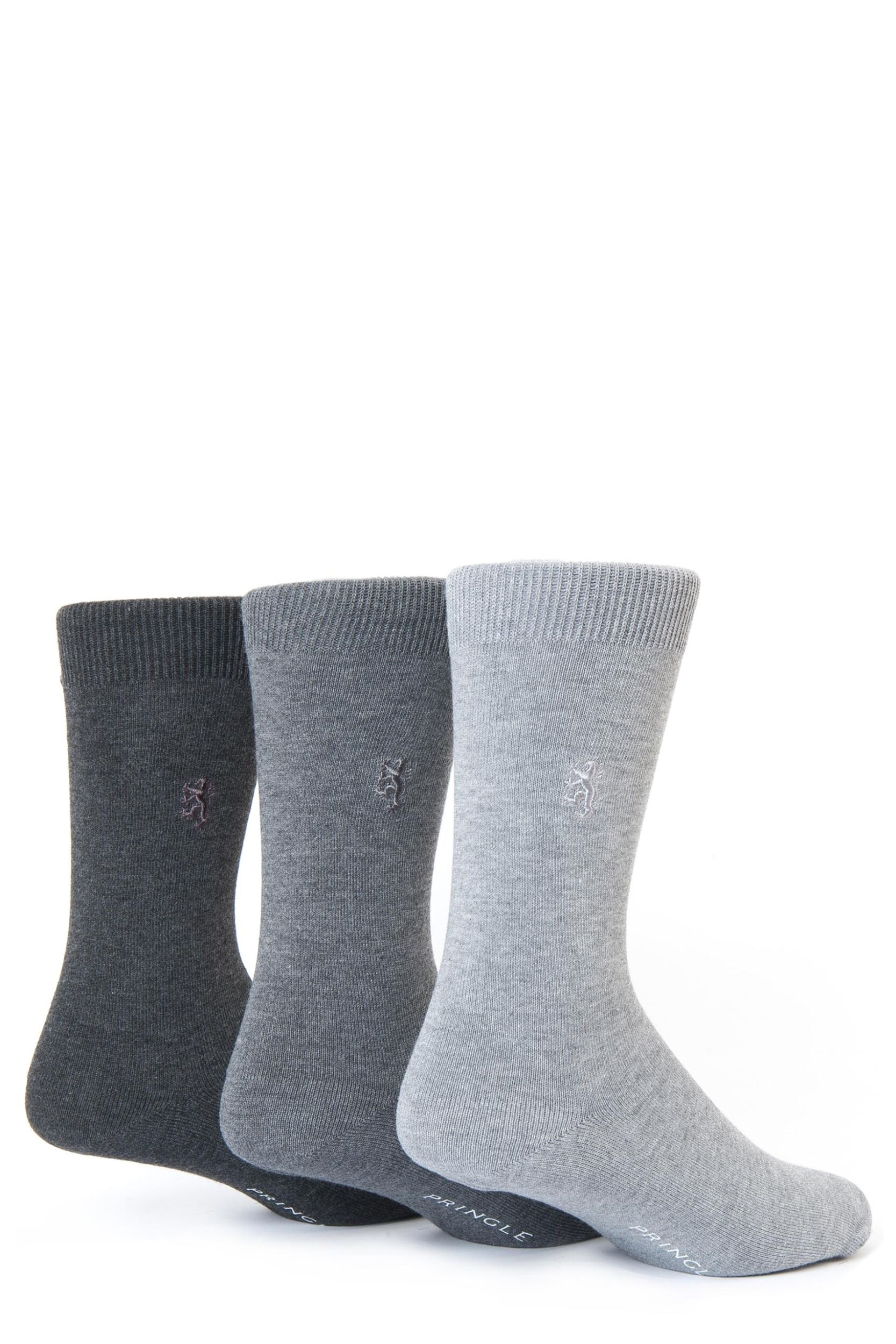 Mens-3-Pair-Pringle-of-Scotland-Classic-Bamboo-Plain-Socks