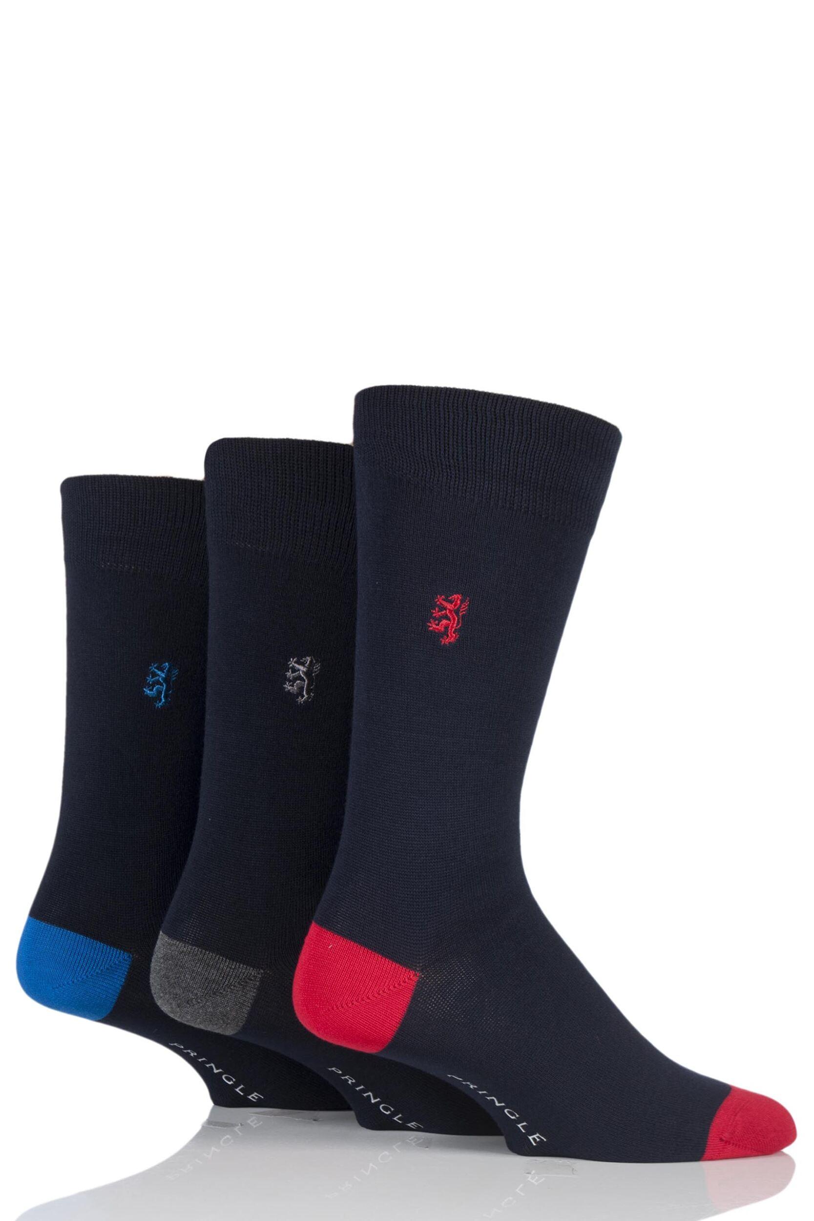 Mens-3-Pair-Pringle-of-Scotland-Classic-Bamboo-Plain-Socks