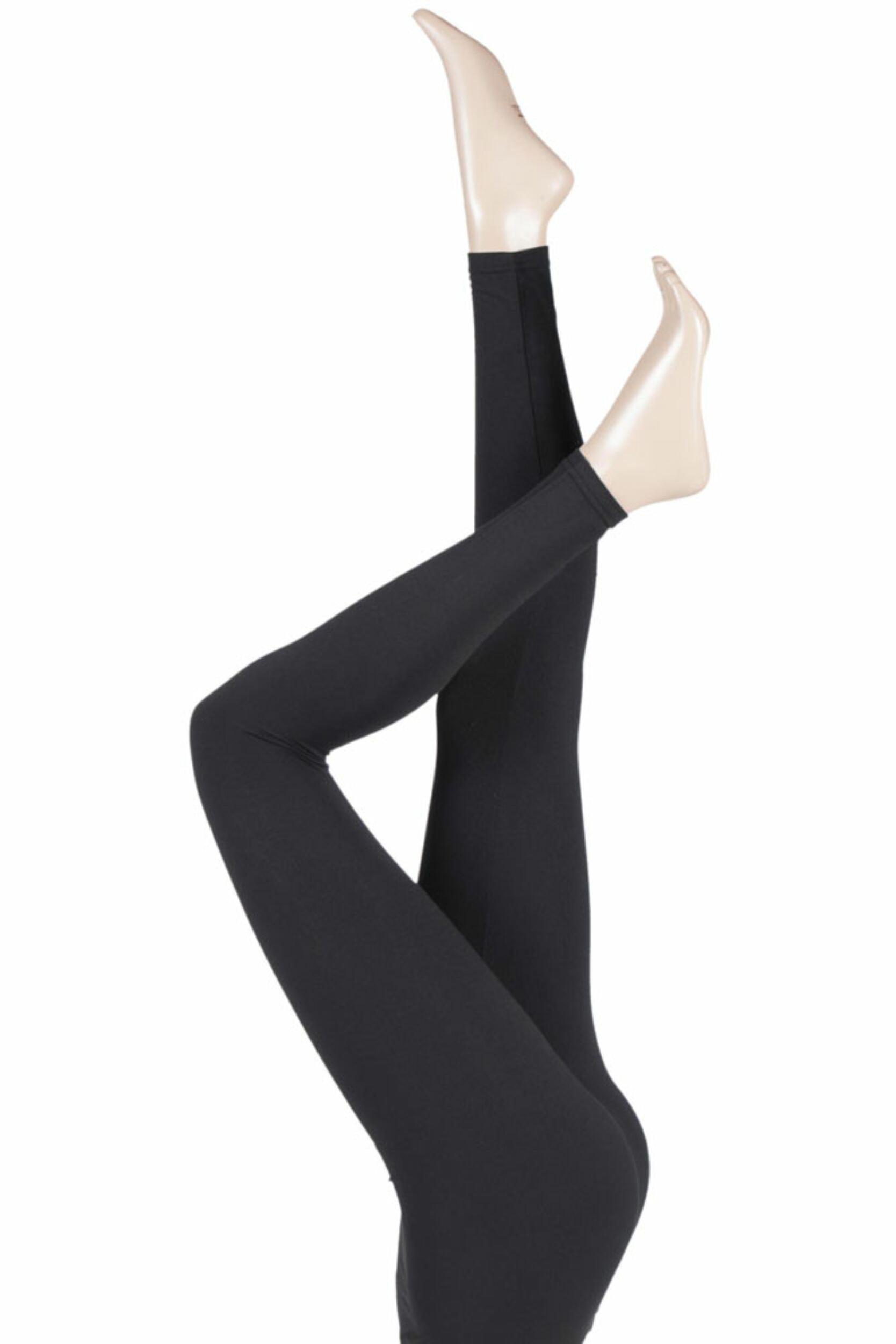 1 Pair Silky Plain Everyday Leggings