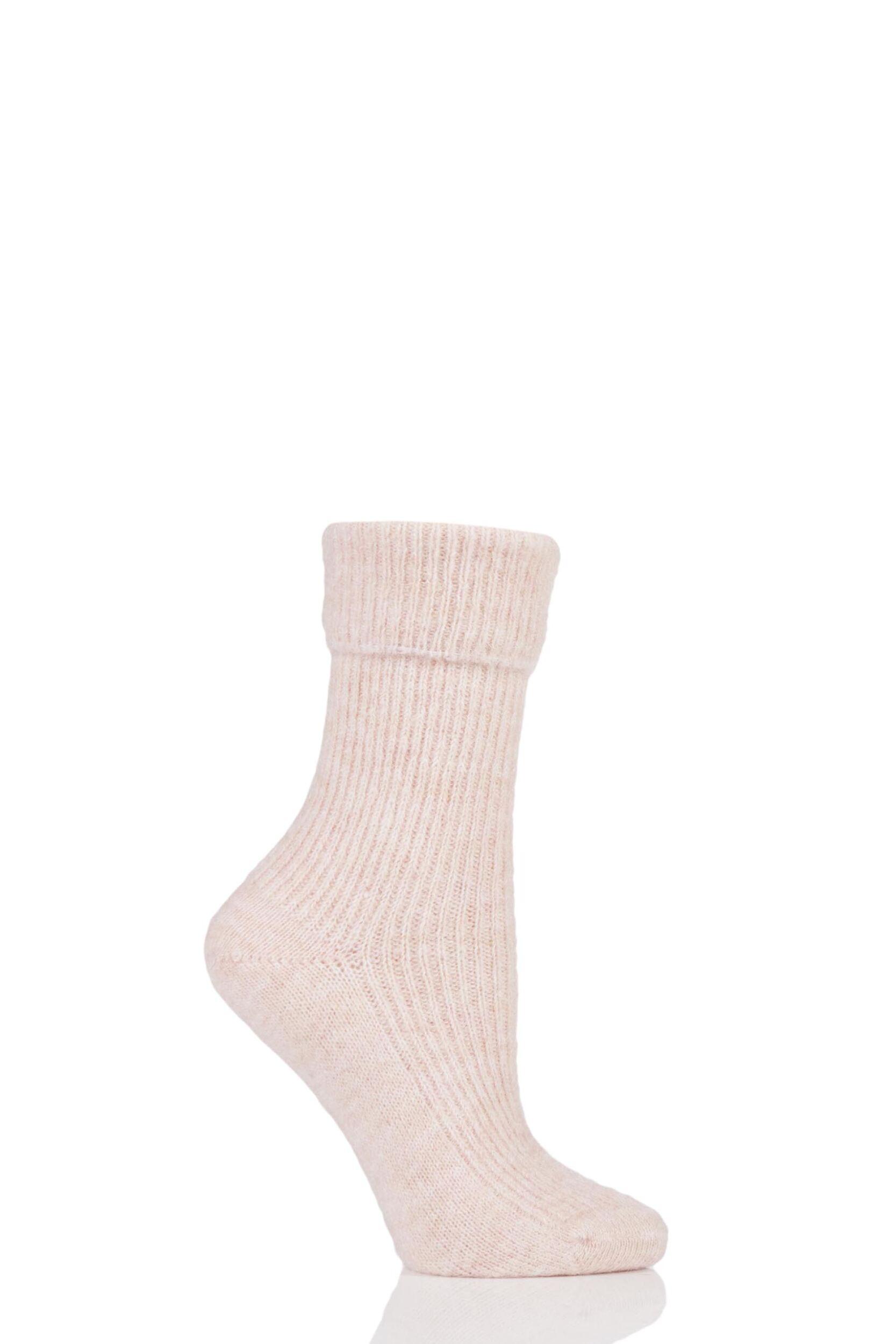 Ladies 1 Pair Urban Knit Turn Over Top Mohair and Alpaca Socks
