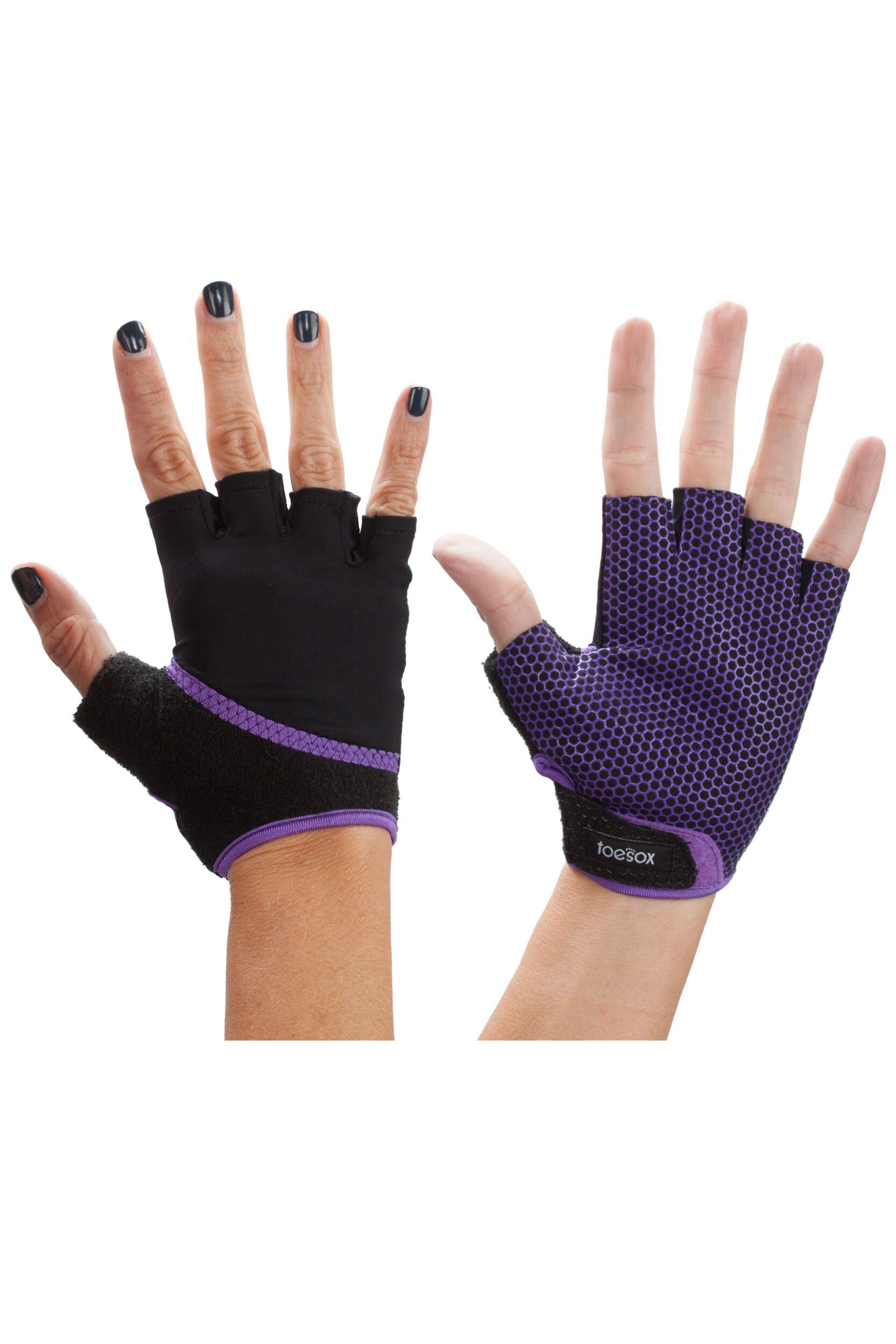 Mens and Ladies 1 Pair ToeSox Yoga Half Finger Grip Gloves ...