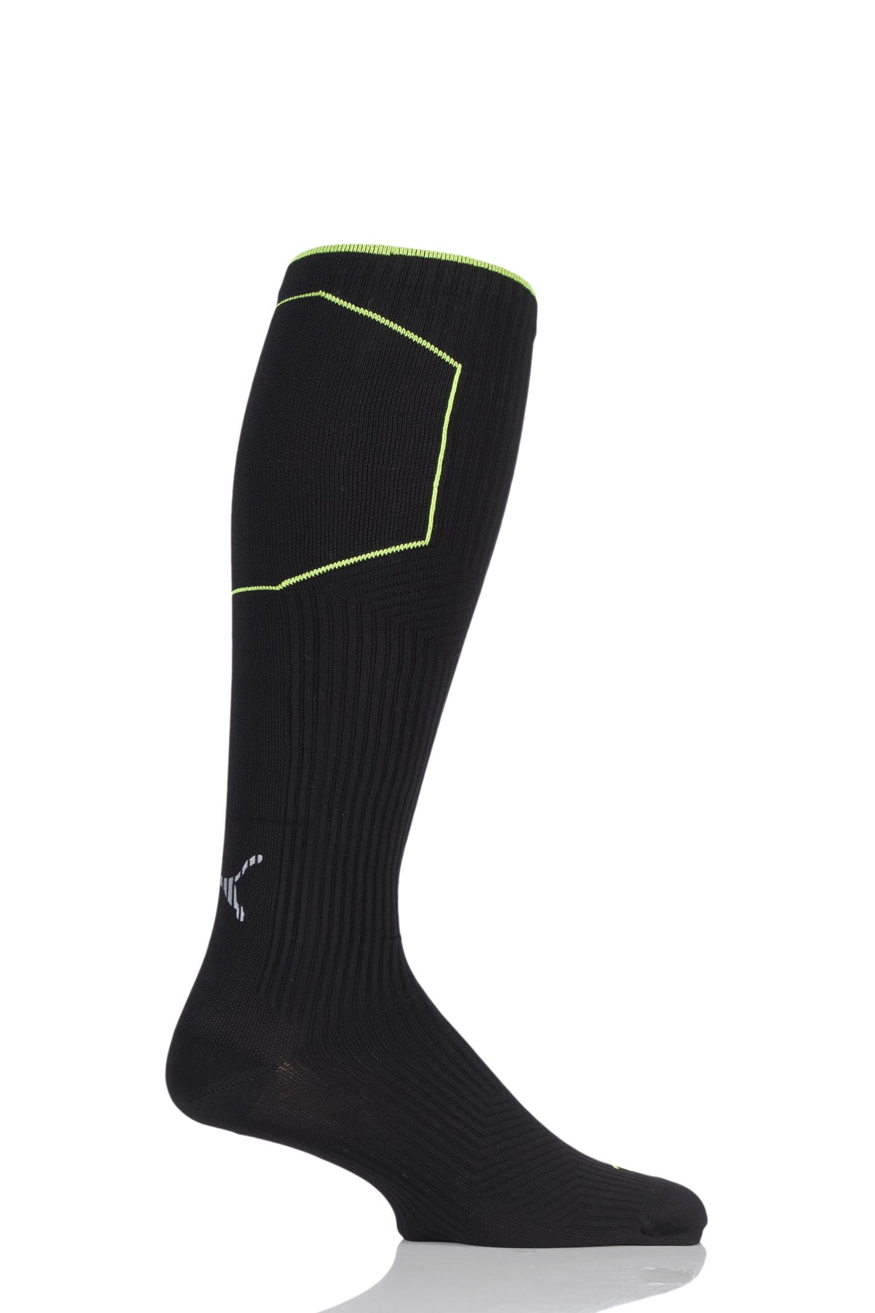 Image of 1 Pair Black Performance Running Compression Knee High Socks with Tactel Unisex 9-11 Unisex - Puma