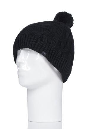 100% Waterproof Cable Knit Bobble Hat from SockShop 03fe3e436a7